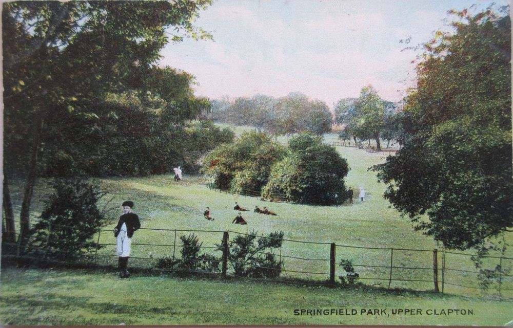 A view of the park, 1905