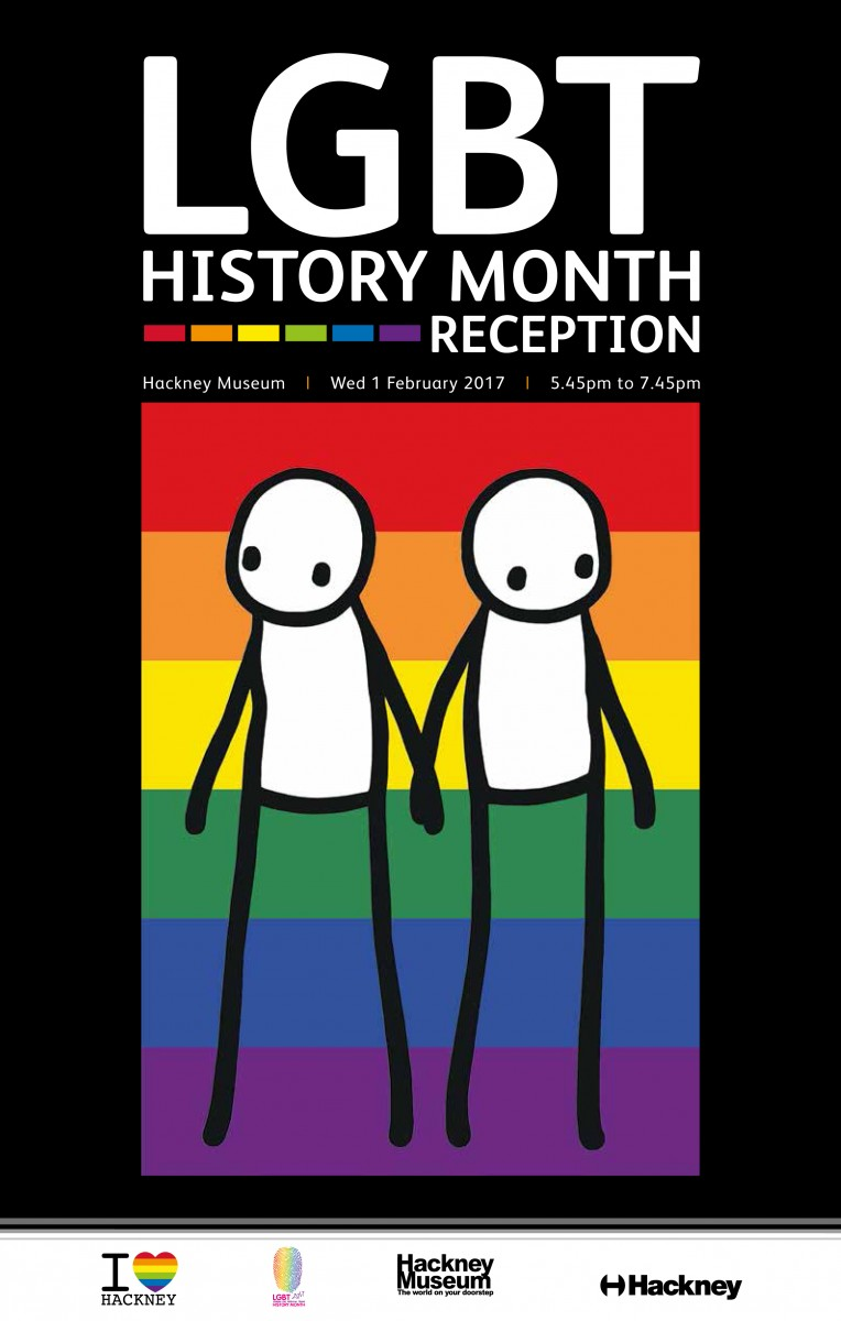 LGBT History Month Reception flyer