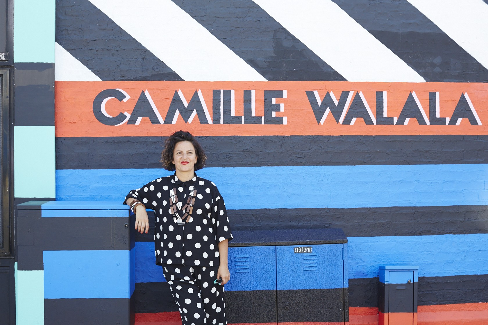 Camille Walala, whose studio is in Hackney, has designed murals in Whitby Street and at Queensbridge Primary School