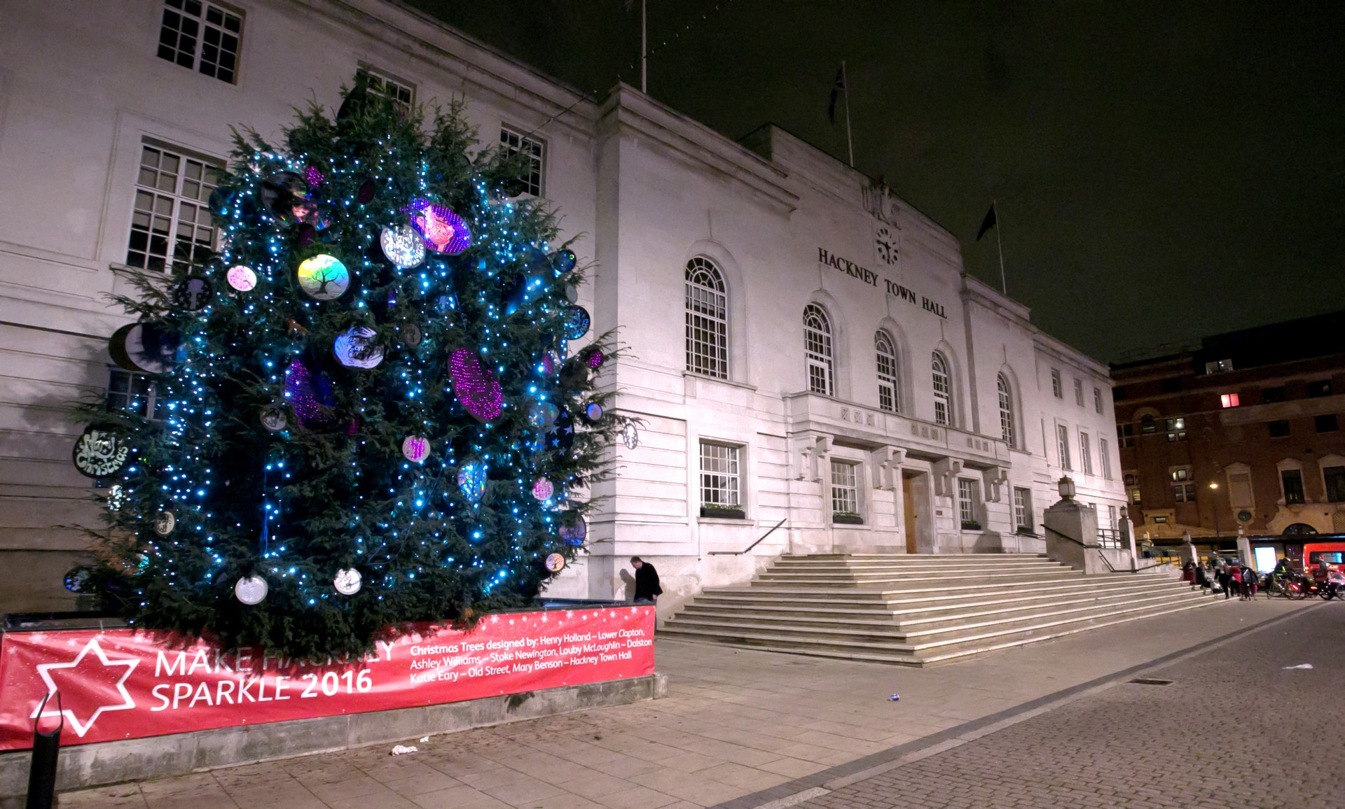 Hackney Central's Christmas lights have been switched on