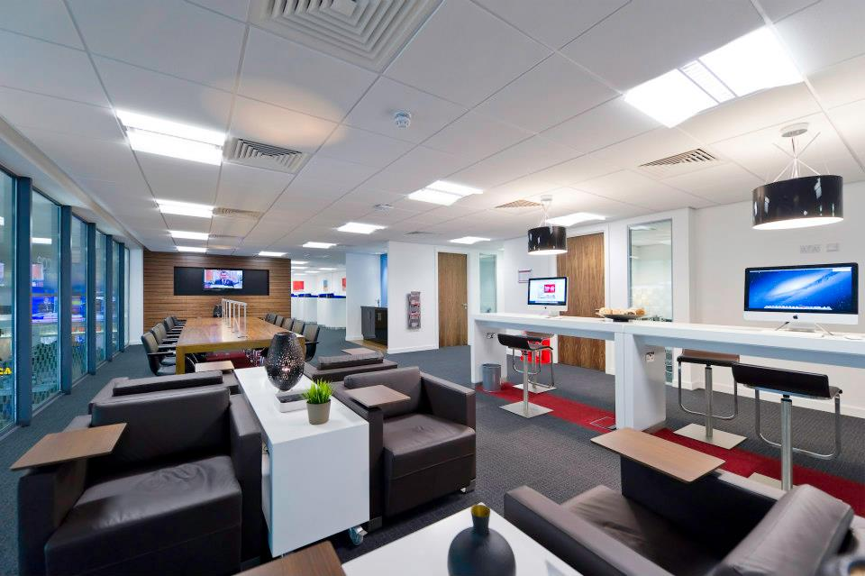A typical Regus Express business lounge