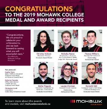 2019 June Convocation Award-Medal Recipients