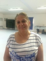 Michelle, who took part in the women's fitness class at the Kings Crescent Estate