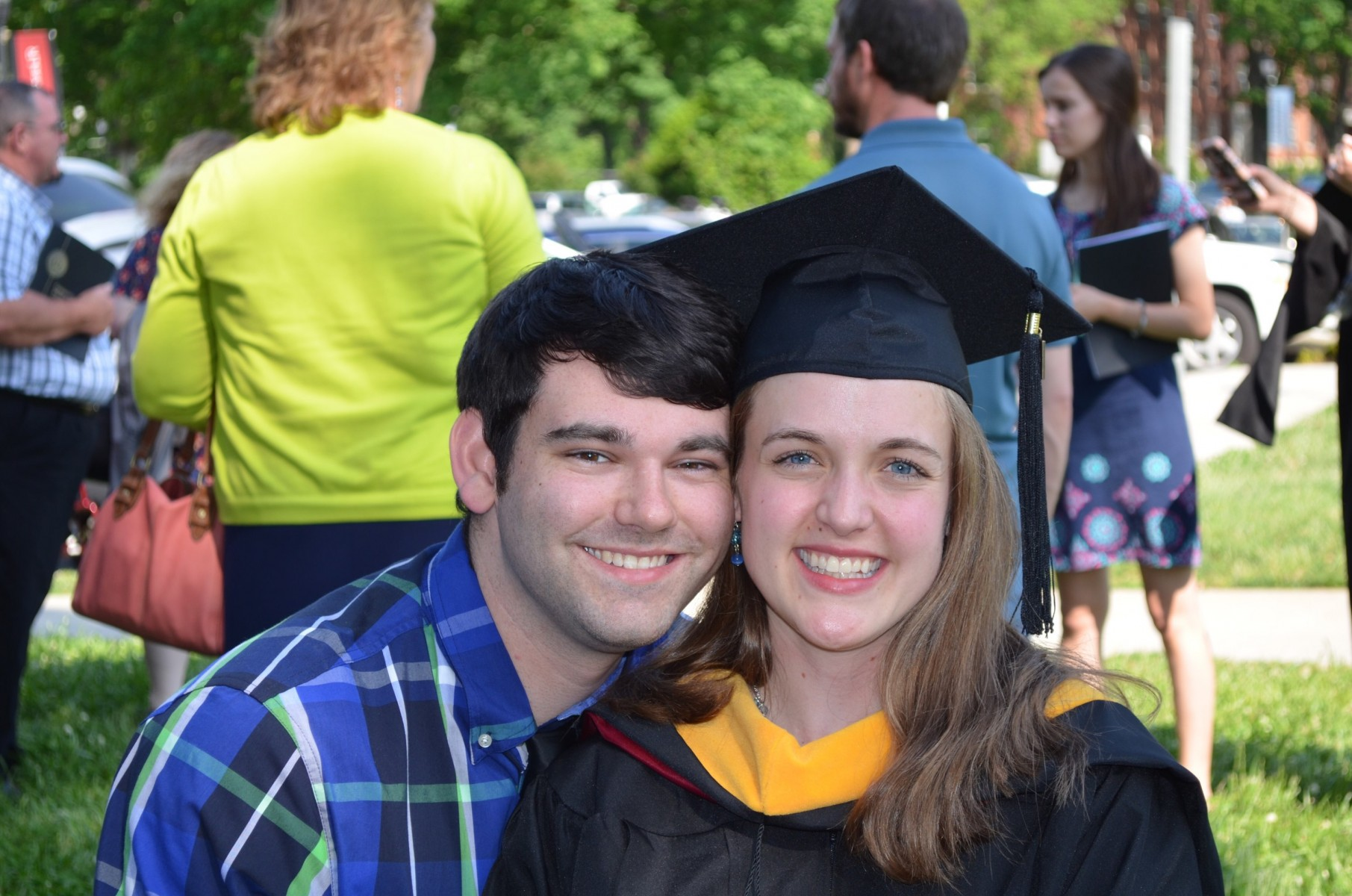 Ben and Sarah Benzing at her graduation