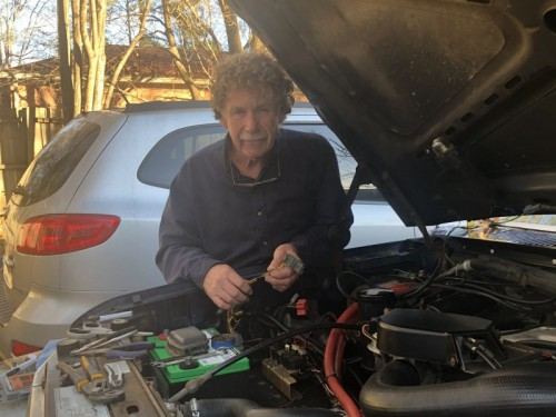 Tommy Knight, 67, loves to restore cars in his spare time.