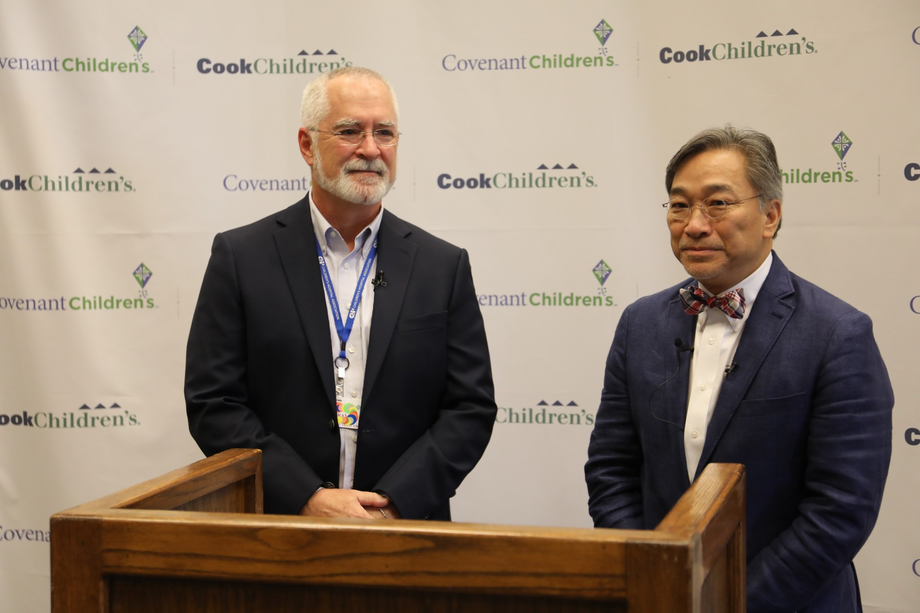 Dr. David Gray and Dr. Vincent Tam at Press Conference at Covenant Children's on June 16, 2020