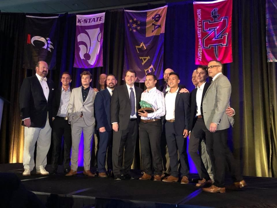 SAE fraternity gets award