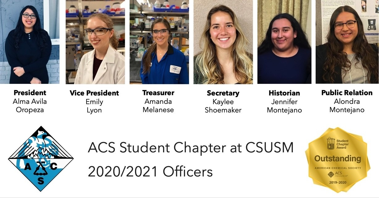 "CSUSM's student chapter of the American Chemical Society was recently recognized with a distinction of ""outstanding,"" one of about 70 in the country to receive the prestigious distinction."
