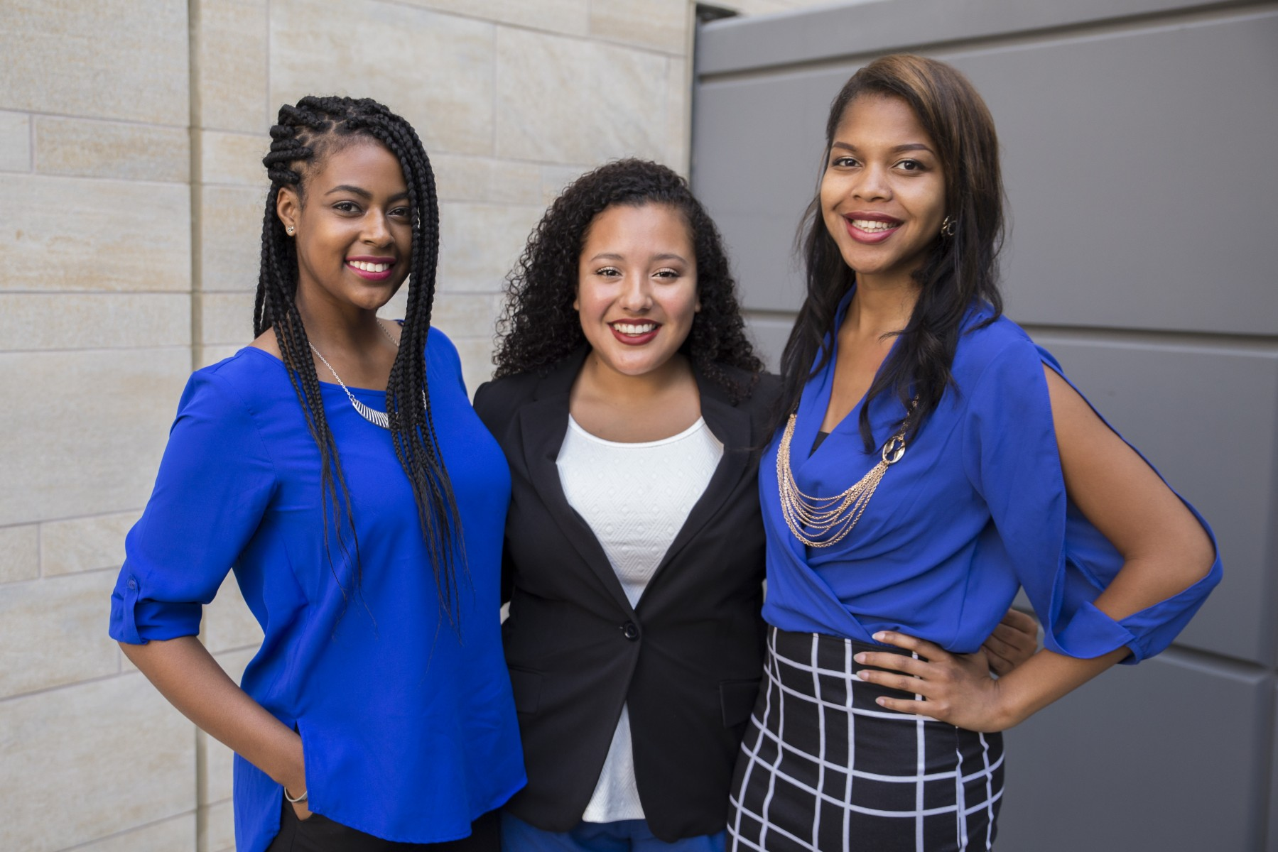 Boyd (left) was president of Associated Students, Inc., during the 2015-16 school year. She was part of an all-woman leadership team along with Bianca Garcia (center) and Jamaela Johnson.