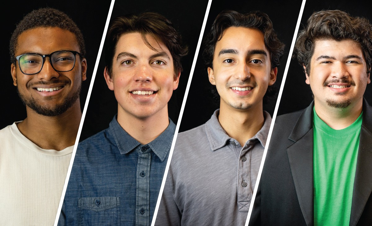 The new ASI leadership team: (left to right) Michael Garrett, Andrew Gamboa, Tim Pelayo and Dylan Crivello.