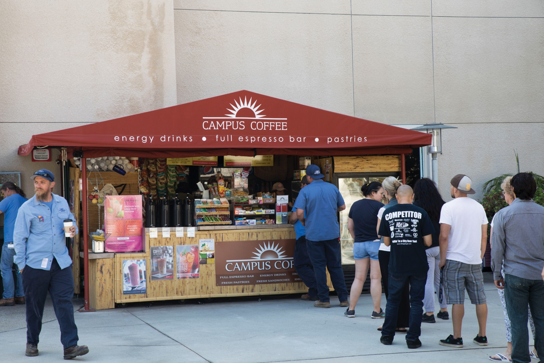 Campus Coffee takes pride in knowing its regular customers' names and usual orders. Photo by Andrew Reed