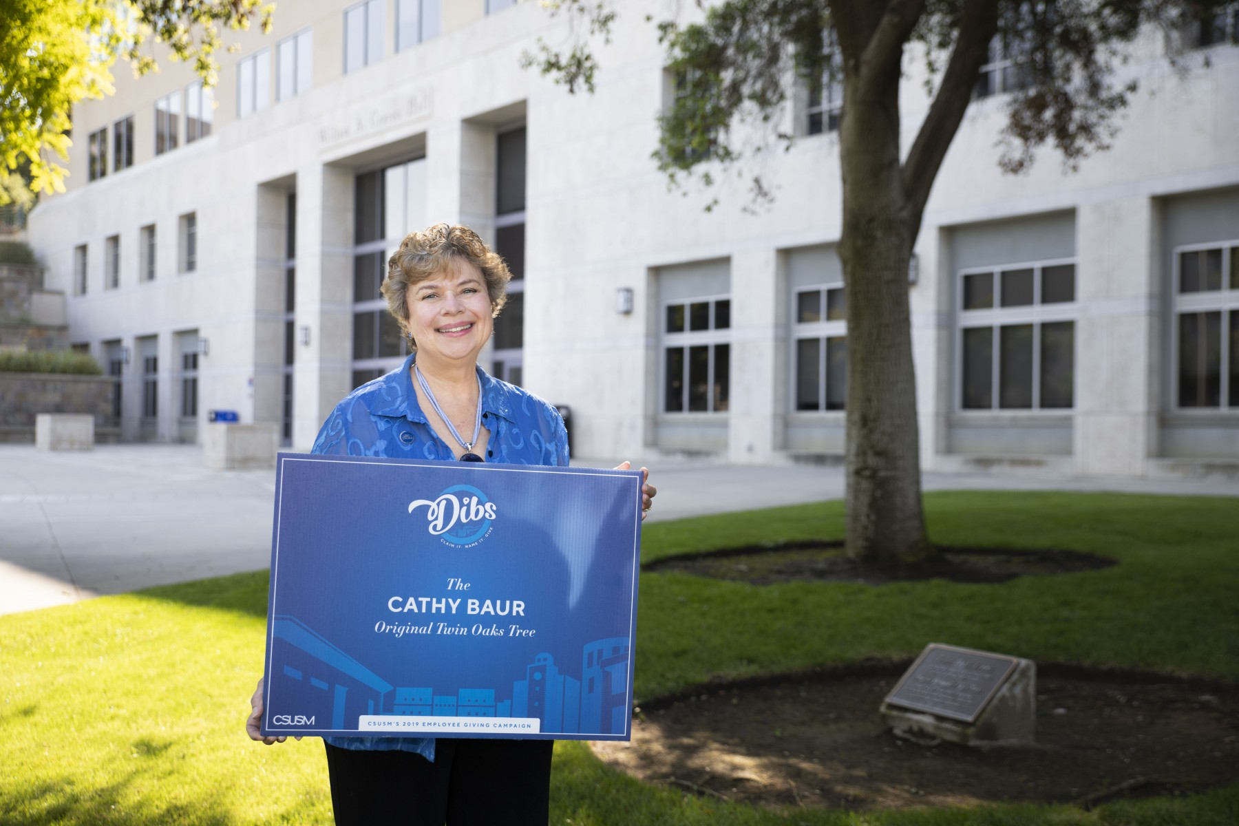 Cathy Baur, who began her career at CSUSM leading the Office of Communications, will retire as the vice president of University Advancement in July. Photo by Andrew Reed