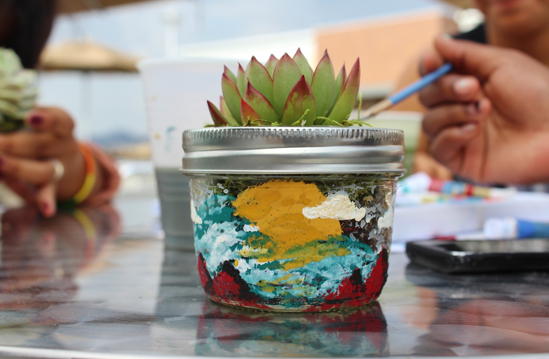 Painted Succulent  | Photo by Lexi Quezada