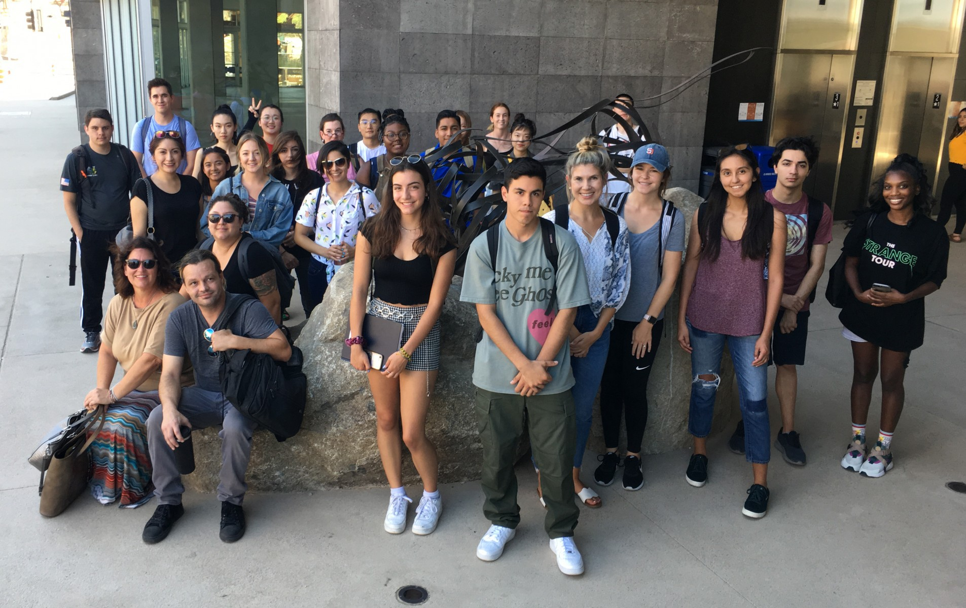 Students in professor Kristin Moss' class titled Art and Social Change toured San Marcos City Hall last semester as part of Democracy in Action.