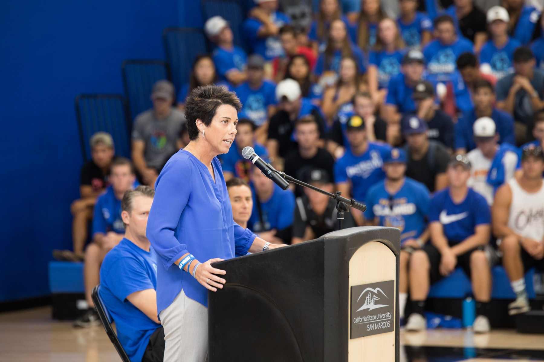 As athletic director, Jen Milo oversaw a three-year transition to a much higher level of competition in NCAA Division II.