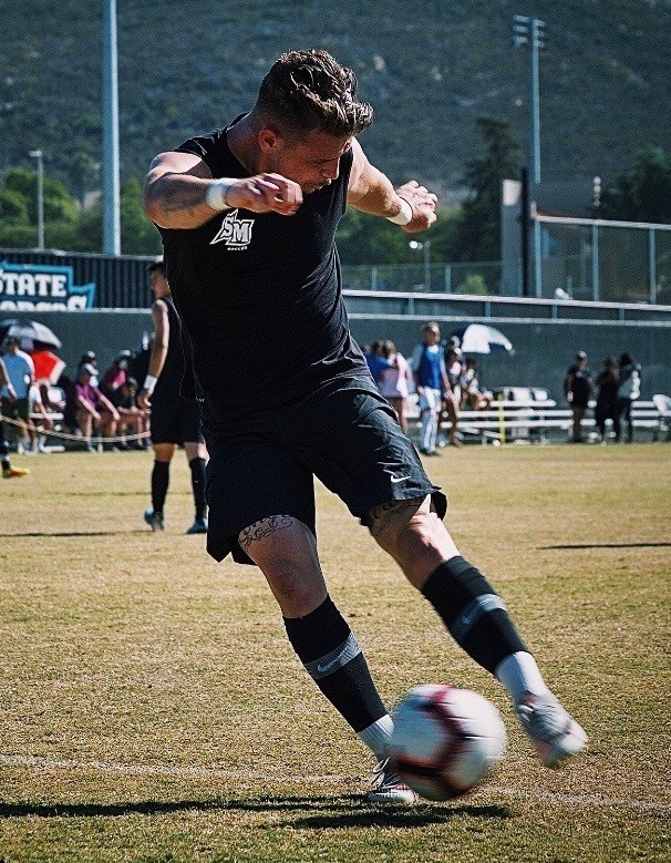Dante Longo is back playing for the CSUSM men's soccer team after missing last season while recovering from a car accident that left him in a coma for nearly a week.