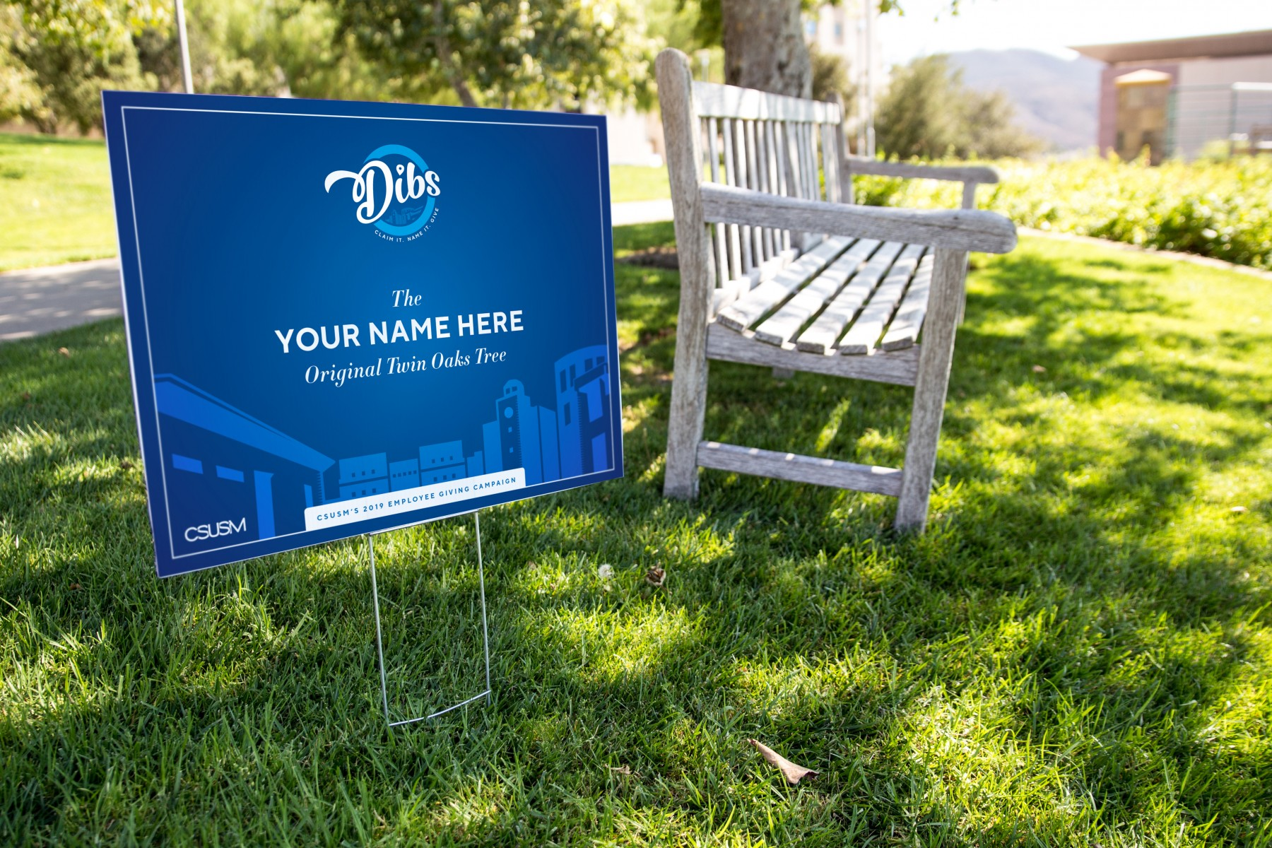 Dibs signs will pop up around campus for 15 days starting on Oct. 1.