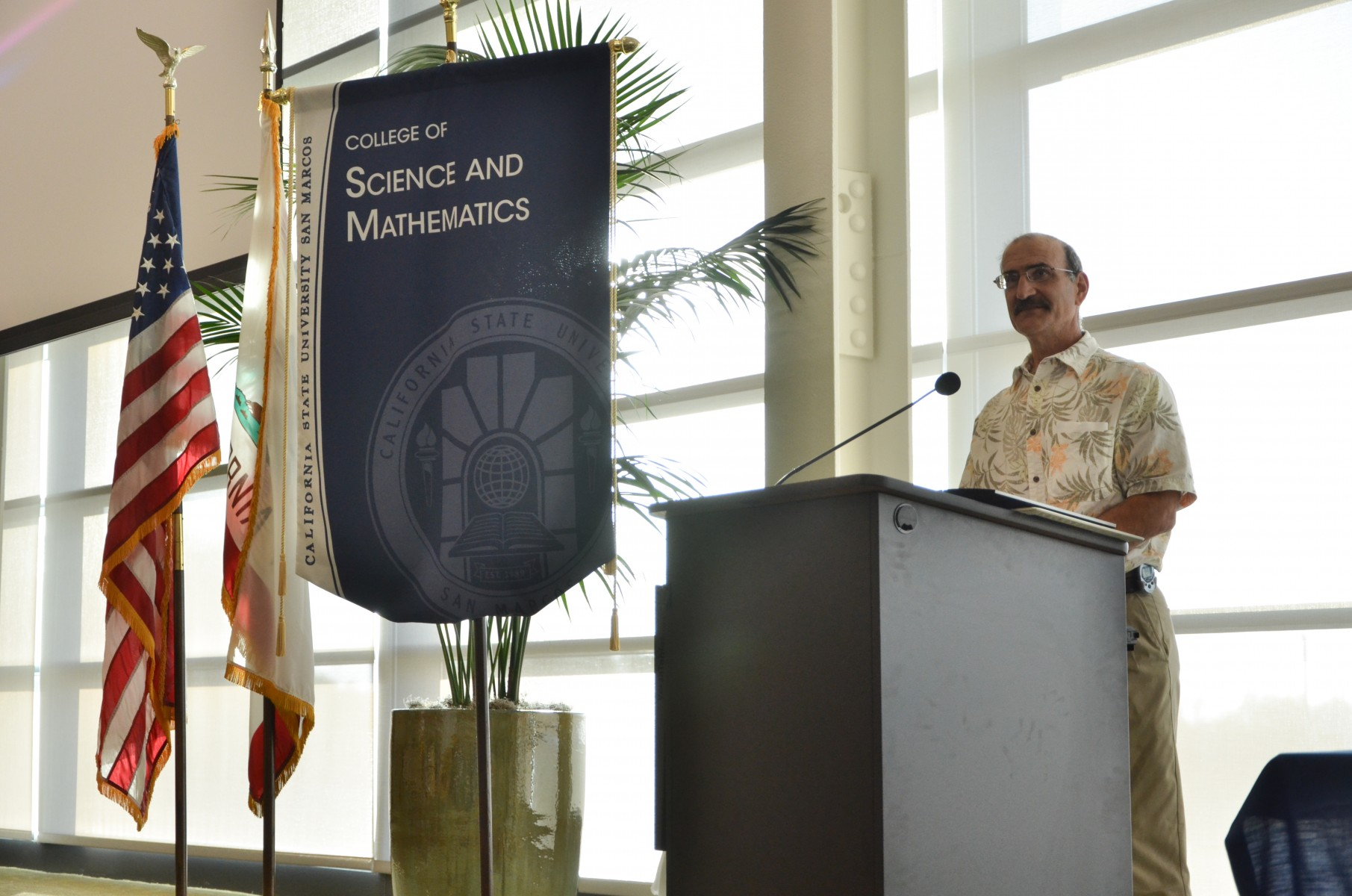 Chemistry and biochemistry professor Paul Jasien, pictured at an event on campus before the COVID-19 pandemic.