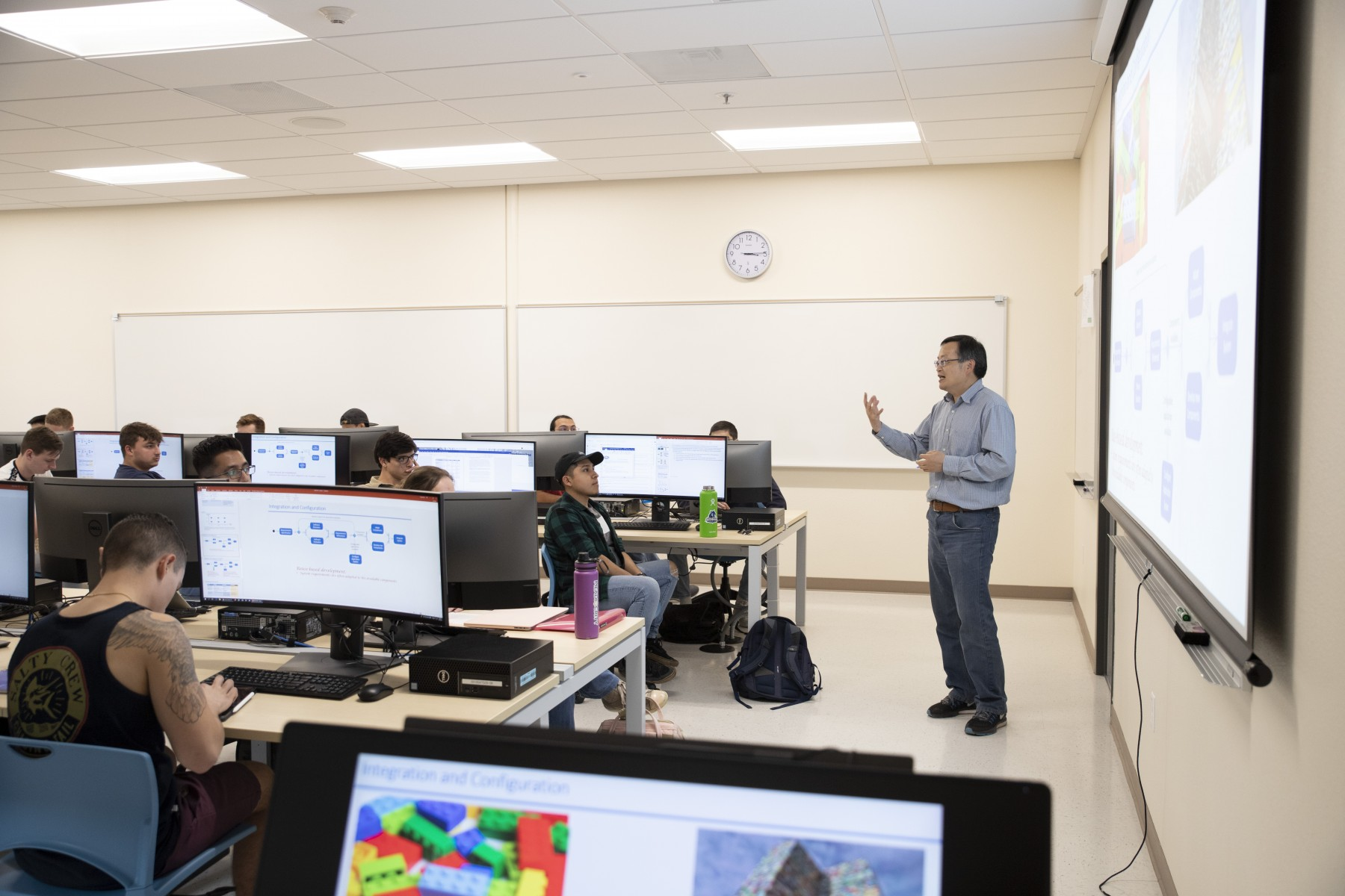 Professor Simon Fan is a driving force in developing curriculum for CSUSM's software engineering program. Photo by Andrew Reed