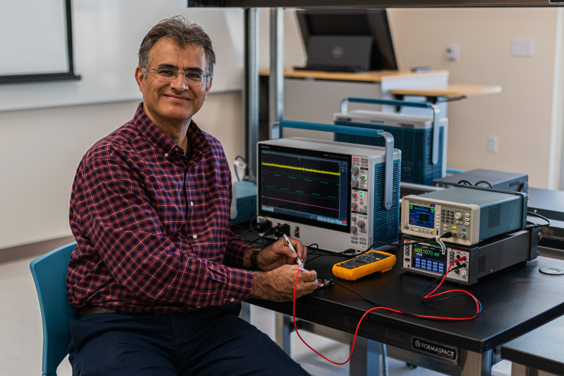 Dr. Reza Kamali-Sarvestani is the founding faculty member in Cal State San Marcos' new electrical engineering program. Photo by Long Truong