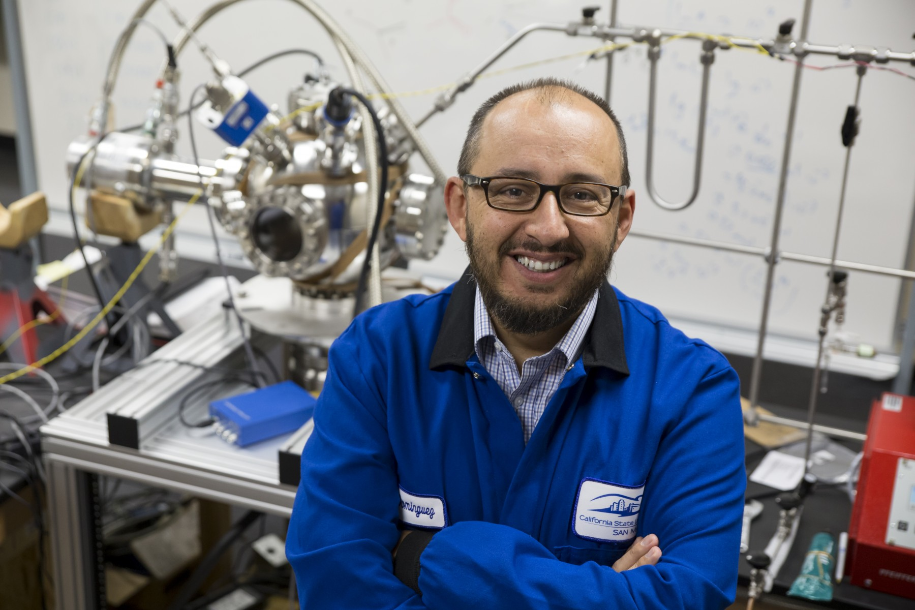CSUSM physics professor Gerardo Dominguez will receive an $837,000 grant from NASA to conduct research that will contribute to understanding several important questions about ice on the moon, including its origin.