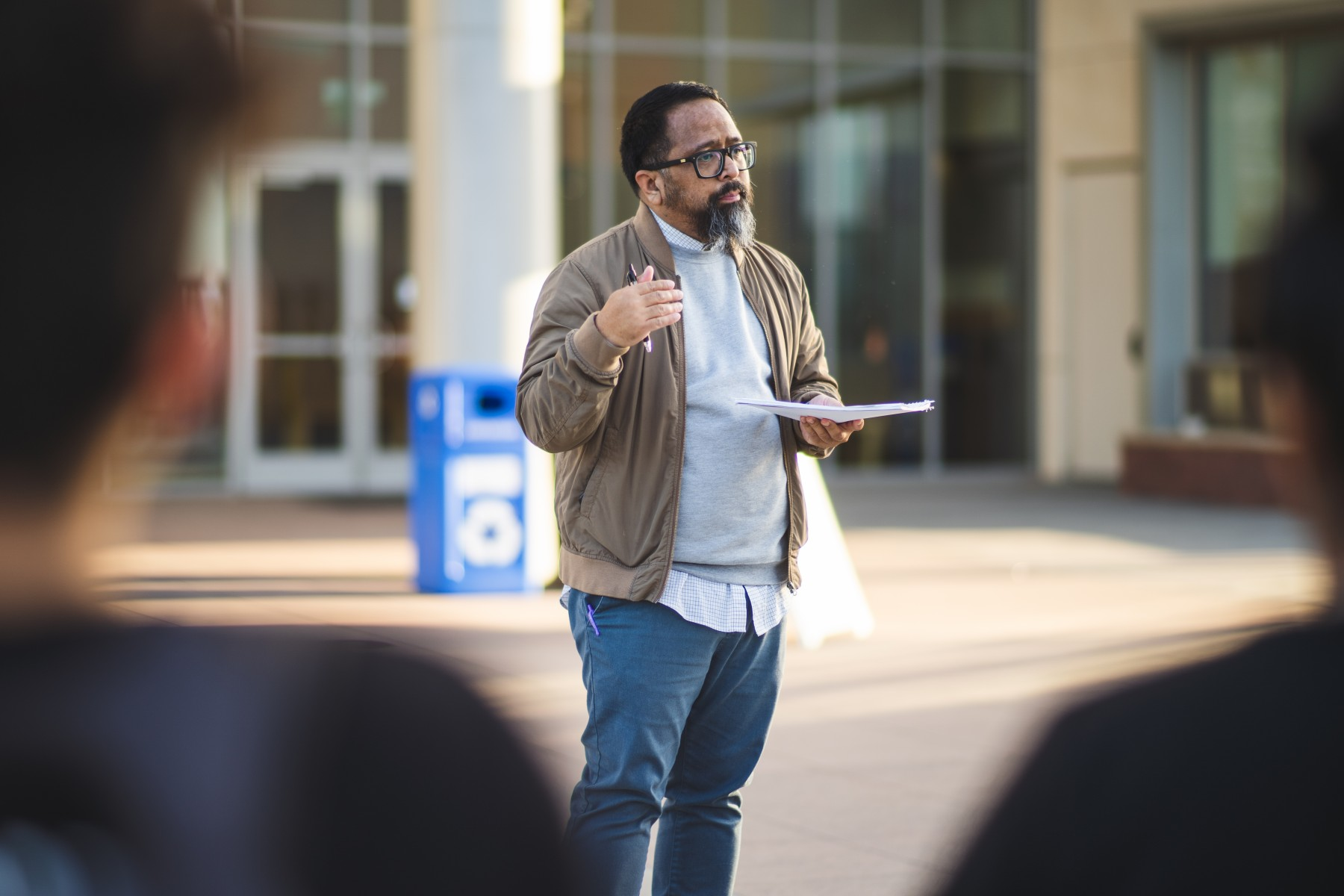 Students in Jason Magabo Perez's Ethnic Studies & Society 301 course have created an Ethnic Studies Pop-Up Gallery, an interactive campus-wide project located on the first floor of the Social and Behavioral Sciences Building.