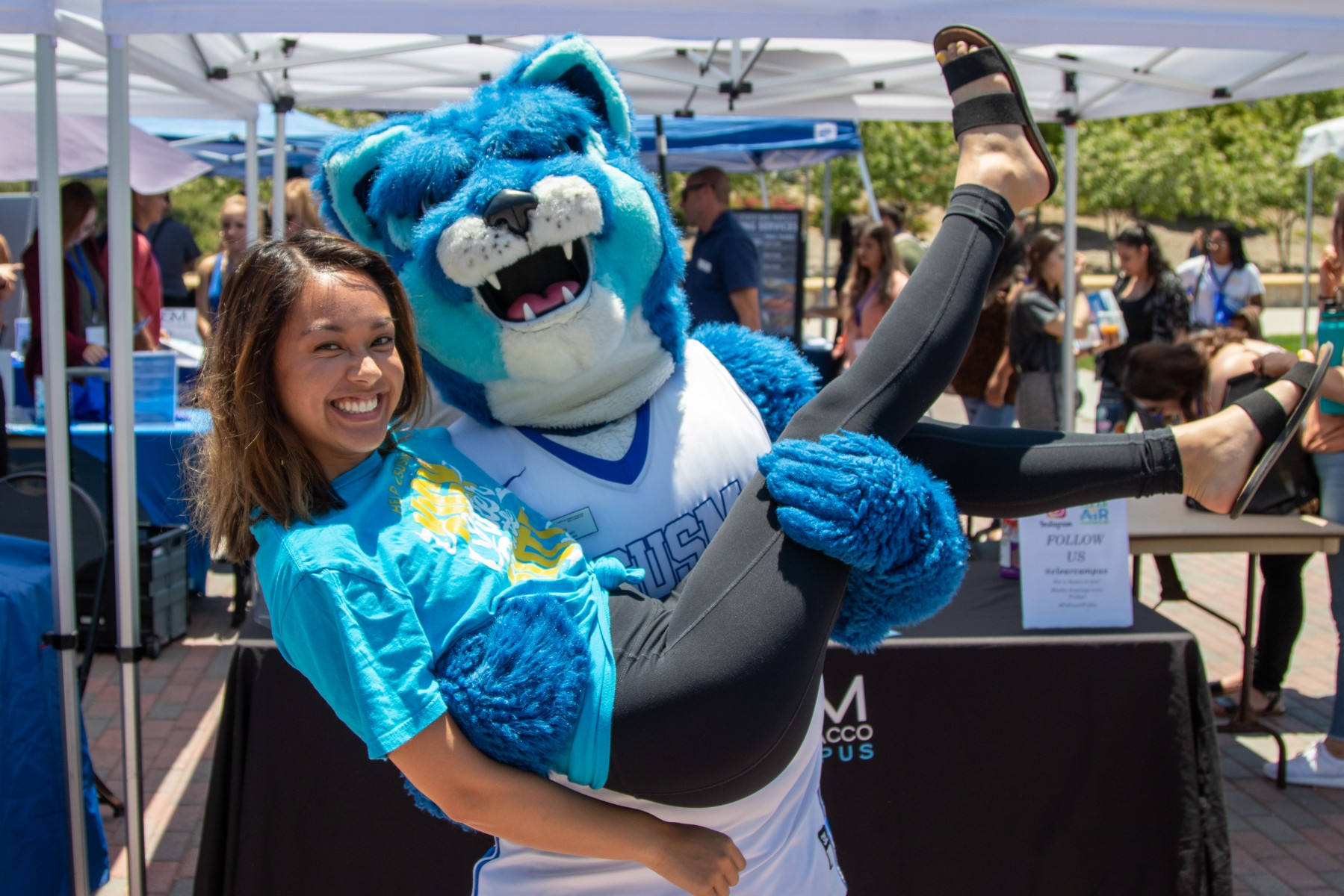 Ashley Reyes, CSUSM's Clear the Air student coordinator, attended on-campus orientations throughout the summer to help educate incoming freshmen and transfer students about the university's smoke- and tobacco-free policy.