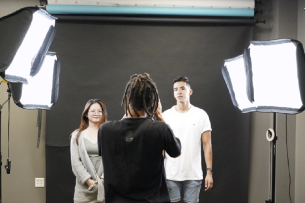 A photo studio is among the numerous amenities available to students, faculty and staff at Inspiration Studios.