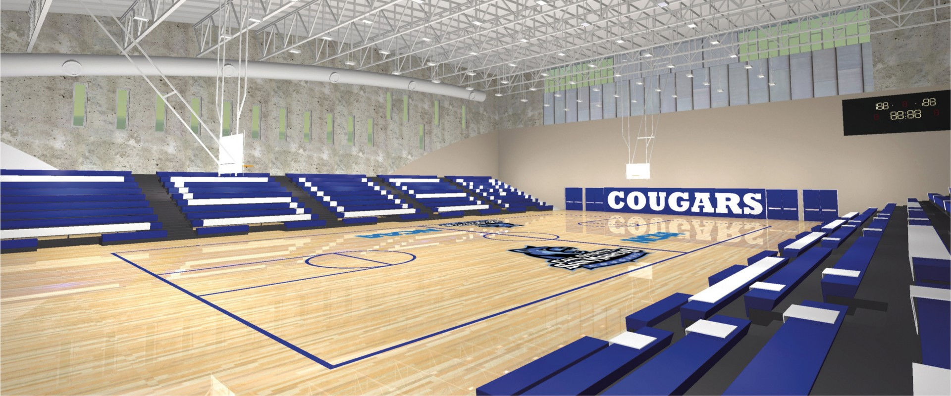 STEPS F14 NCAA sports center rendering