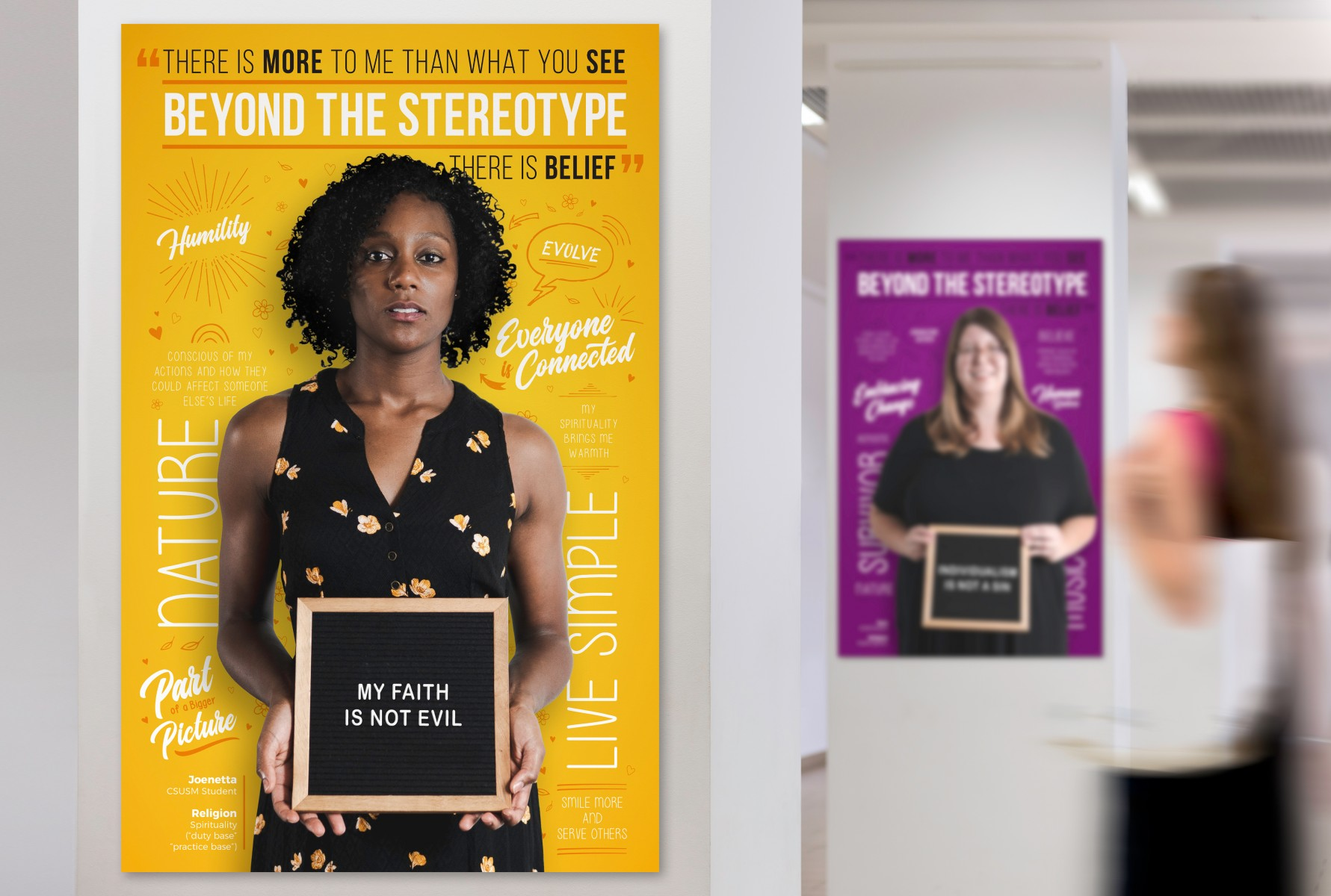 "The new Beyond the Stereotype campaign, ""There is Belief,"" launched on Oct. 29."