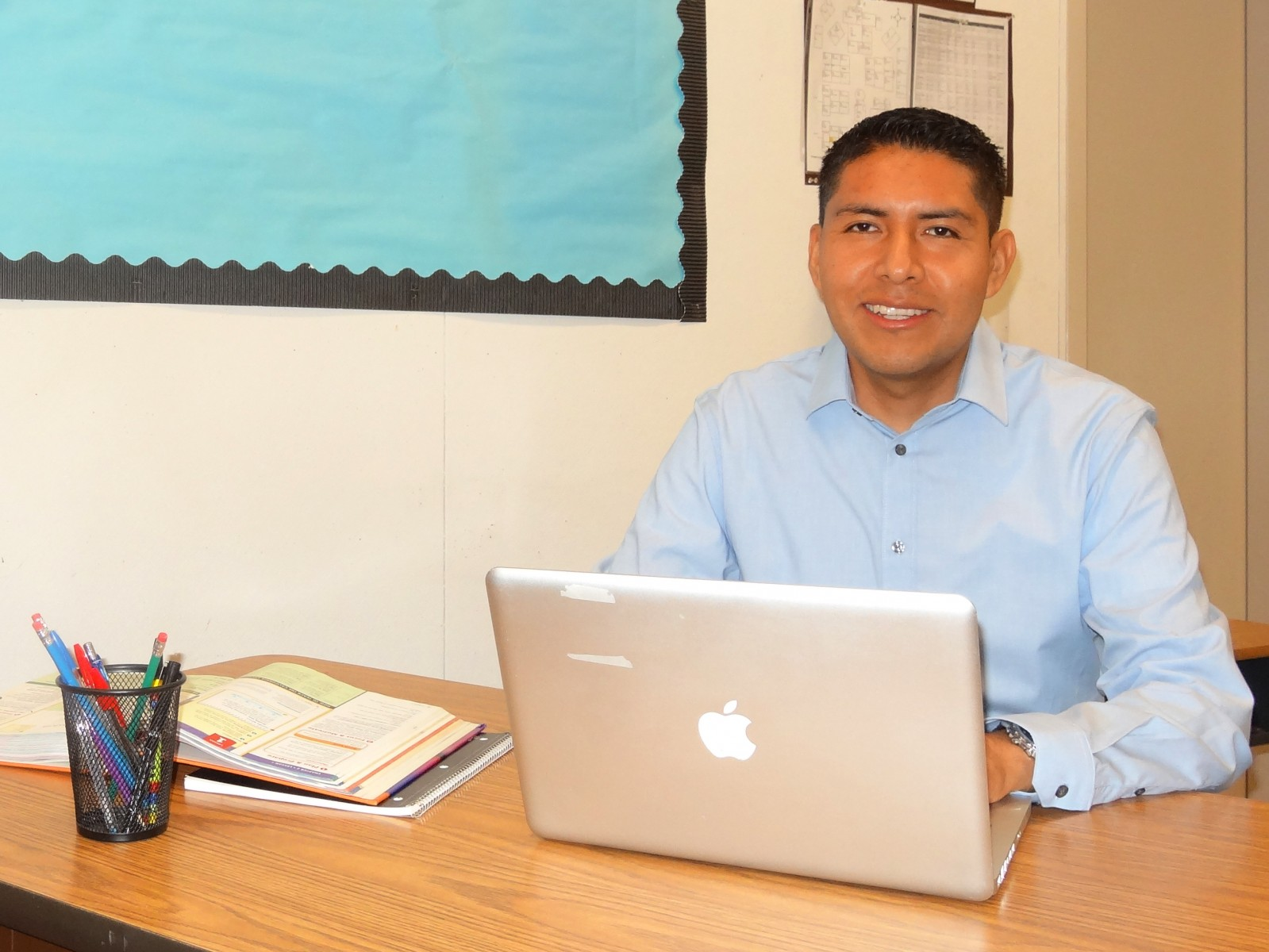 Jose Melo, who earned a bachelor's degree, teaching credential and master's from CSUSM, is a decorated teacher at Valley Center Middle School.