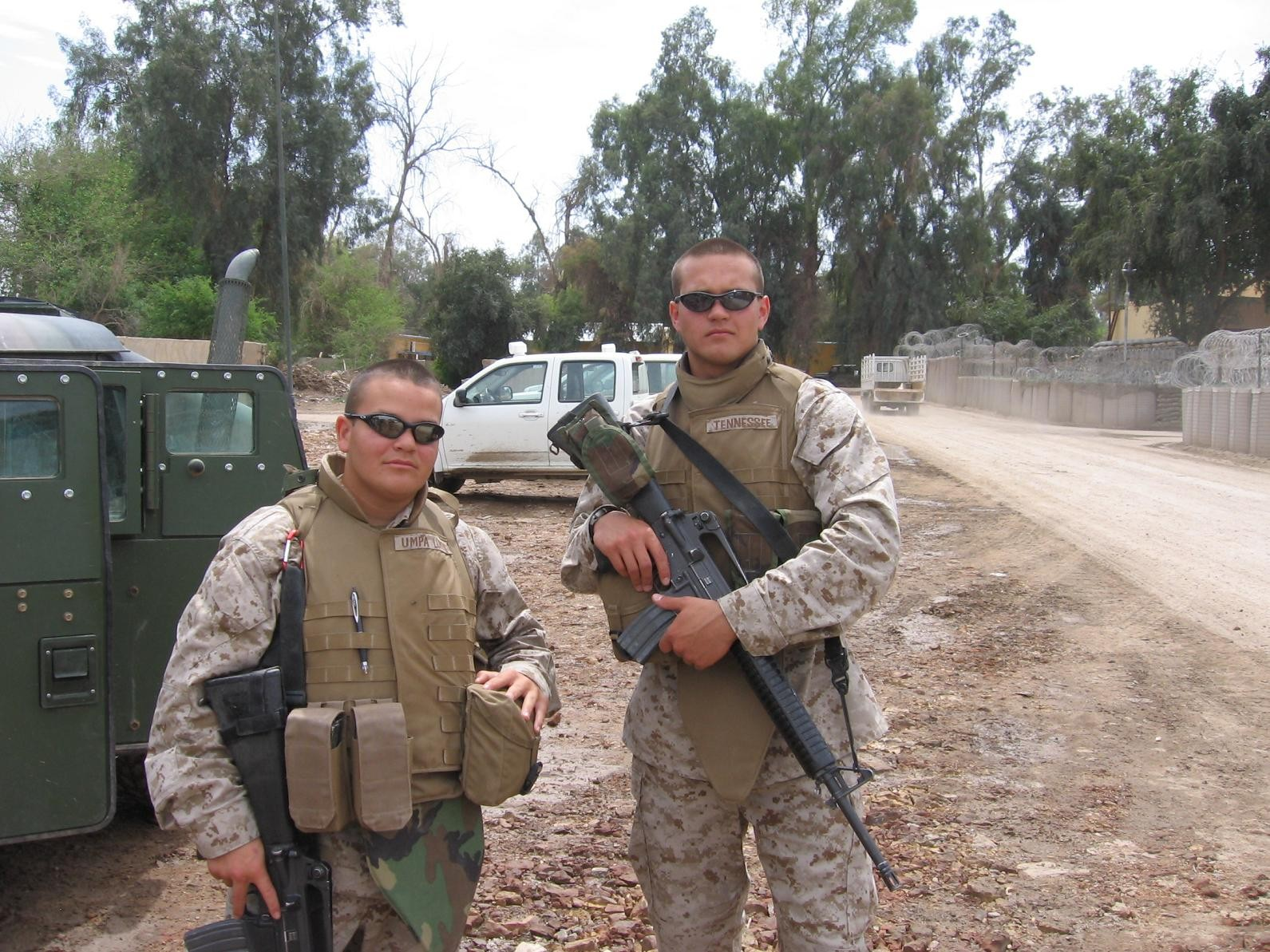 William Felty (right) saw combat as a Marine in Iraq.