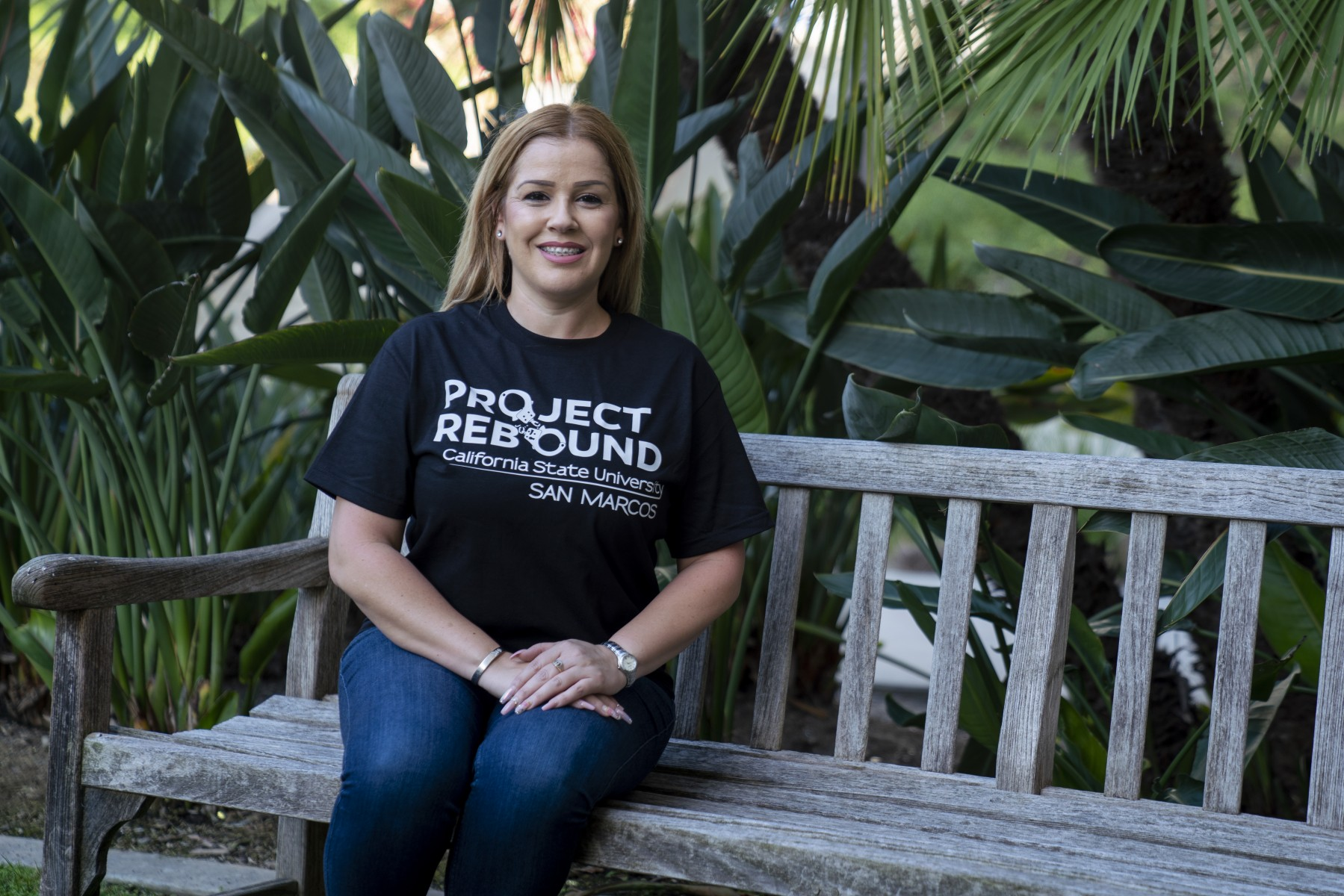 Maria Valdivia is a member of the first cohort of CSUSM's Project Rebound, a program that provides support for formerly incarcerated students. Photo by Chandler Oriente