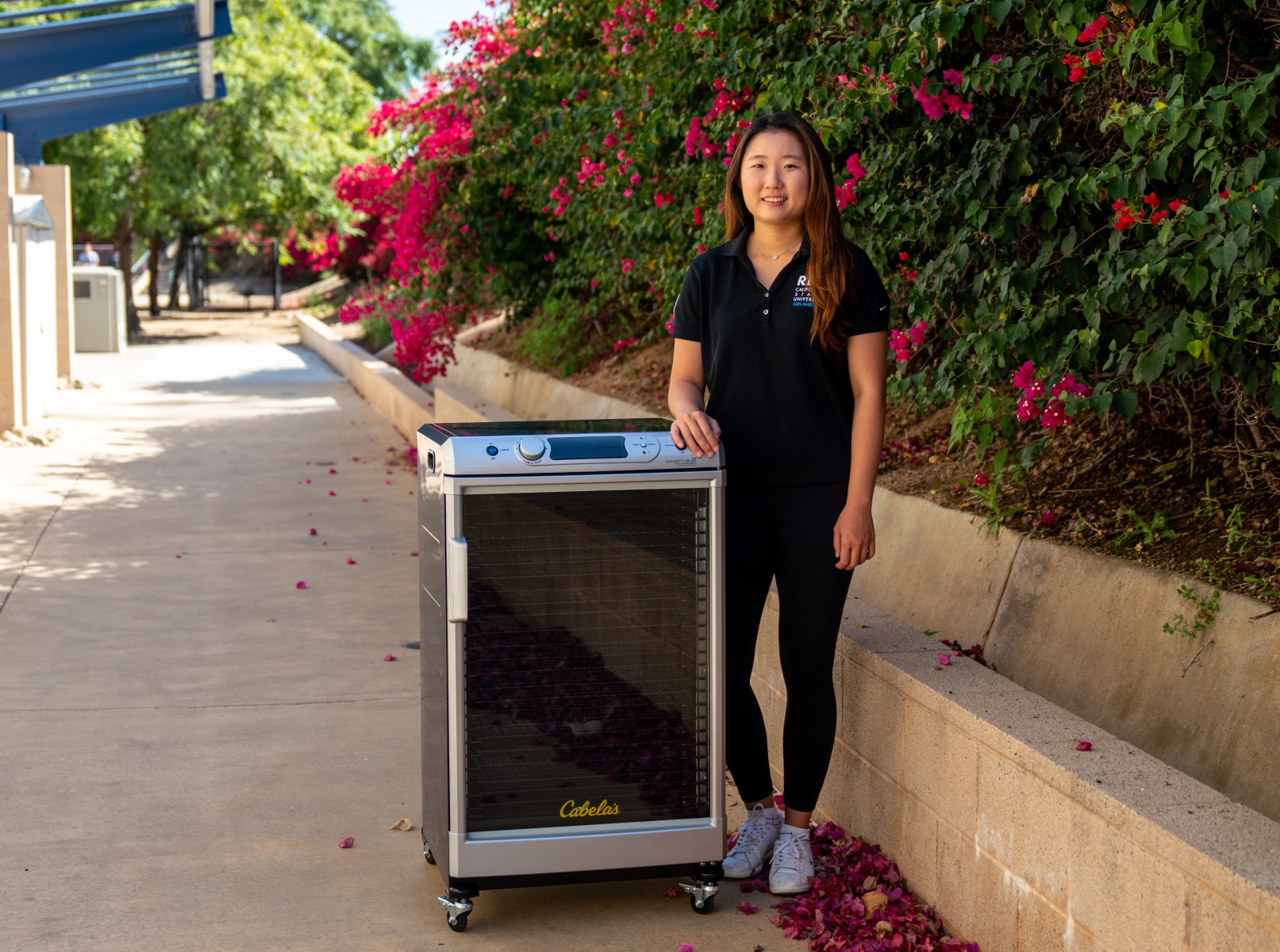 A dehydrator was among the items purchased by Outdoor Adventures thanks to a sustainability grant that Michelle Kang received. Photo by Chandler Oriente