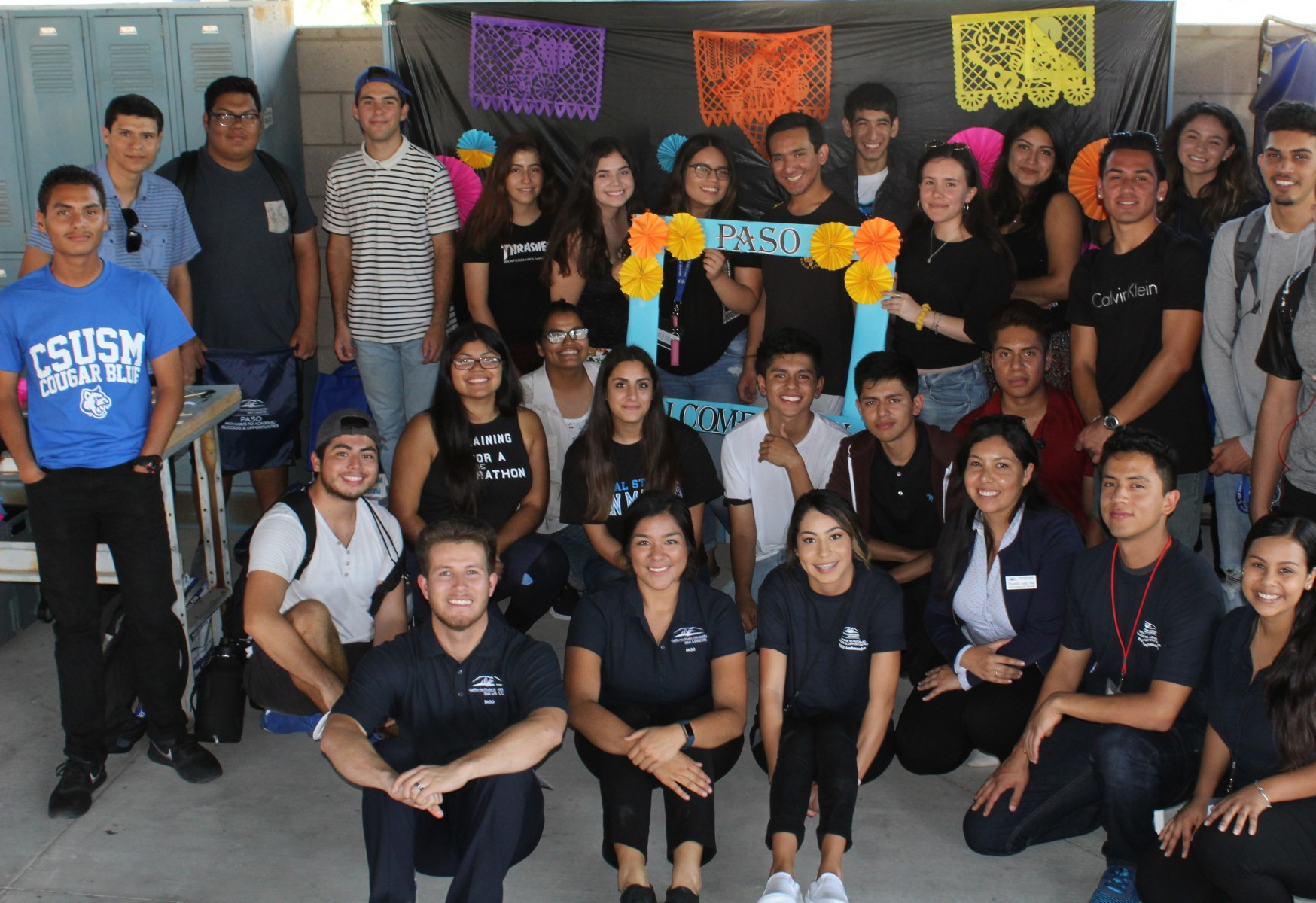 PASO students and employees on campus before the start of the pandemic.