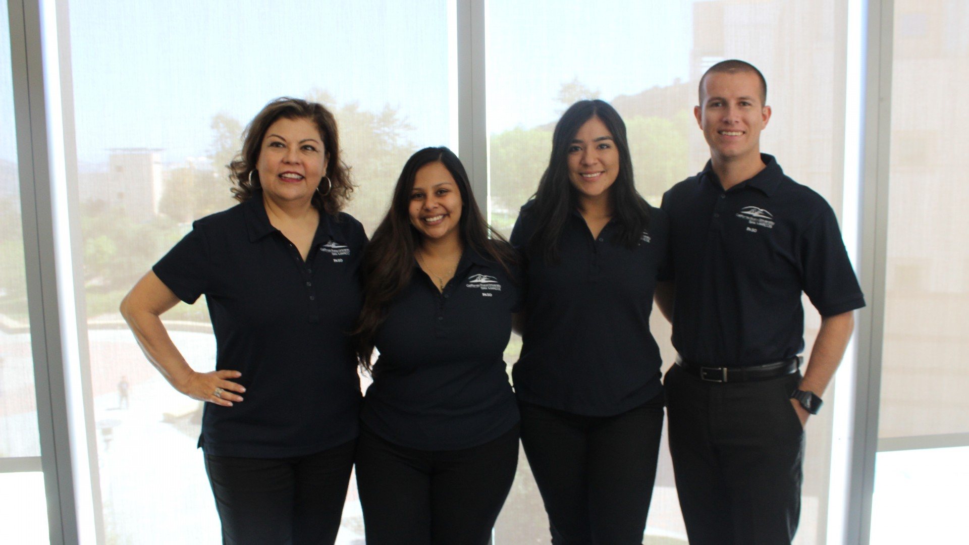 Minerva Gonzalez (left), director of the PASO program, is pictured with PASO staff members Sabrina Holguin, Monica Huerta and Salvador Perez.