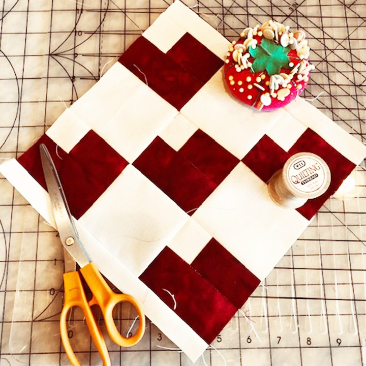 The CSUSM COVID-19 compassion quilting project will create a campus quilt to commemorate the community's collective experience around the pandemic. This square pattern, created by Sharon Hamill, will be used to commemorate loved ones who died; all other squares will be the creation of participants.