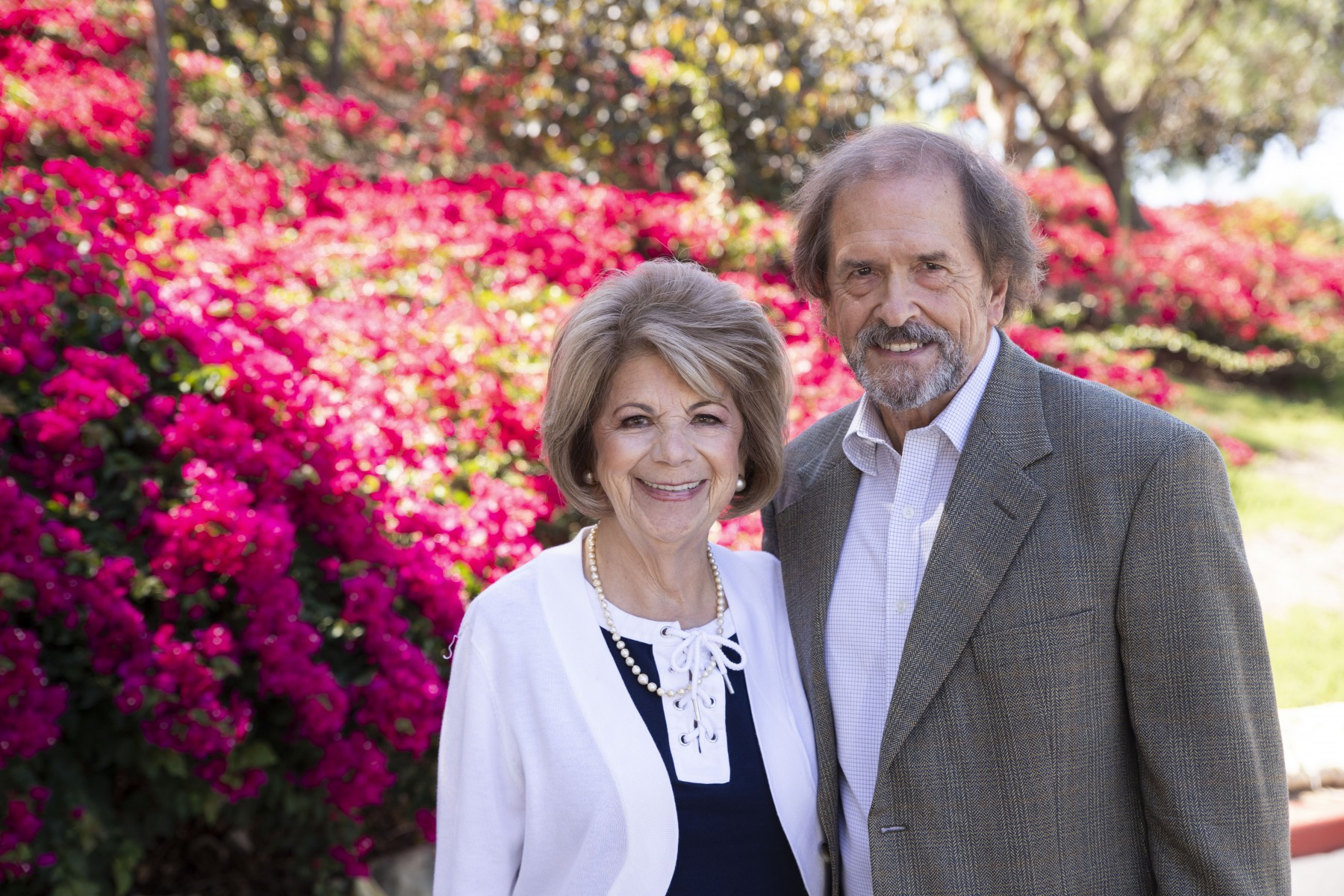 Rosita and Lee Hieb have been giving back to Cal State San Marcos students for nearly 25 years. Photo by Andrew Reed