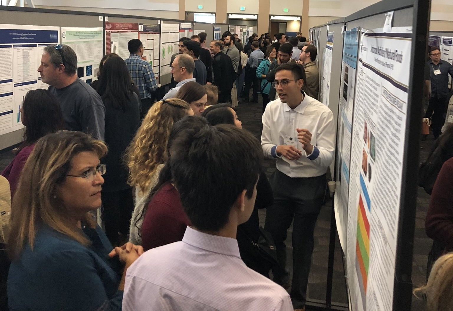 The Southern California Conferences for Undergraduate Research was held at CSUSM on Nov. 23, the first time the annual event had ever been held in San Diego County. A conference-record 1,363 participants from 150 different institutions attended.