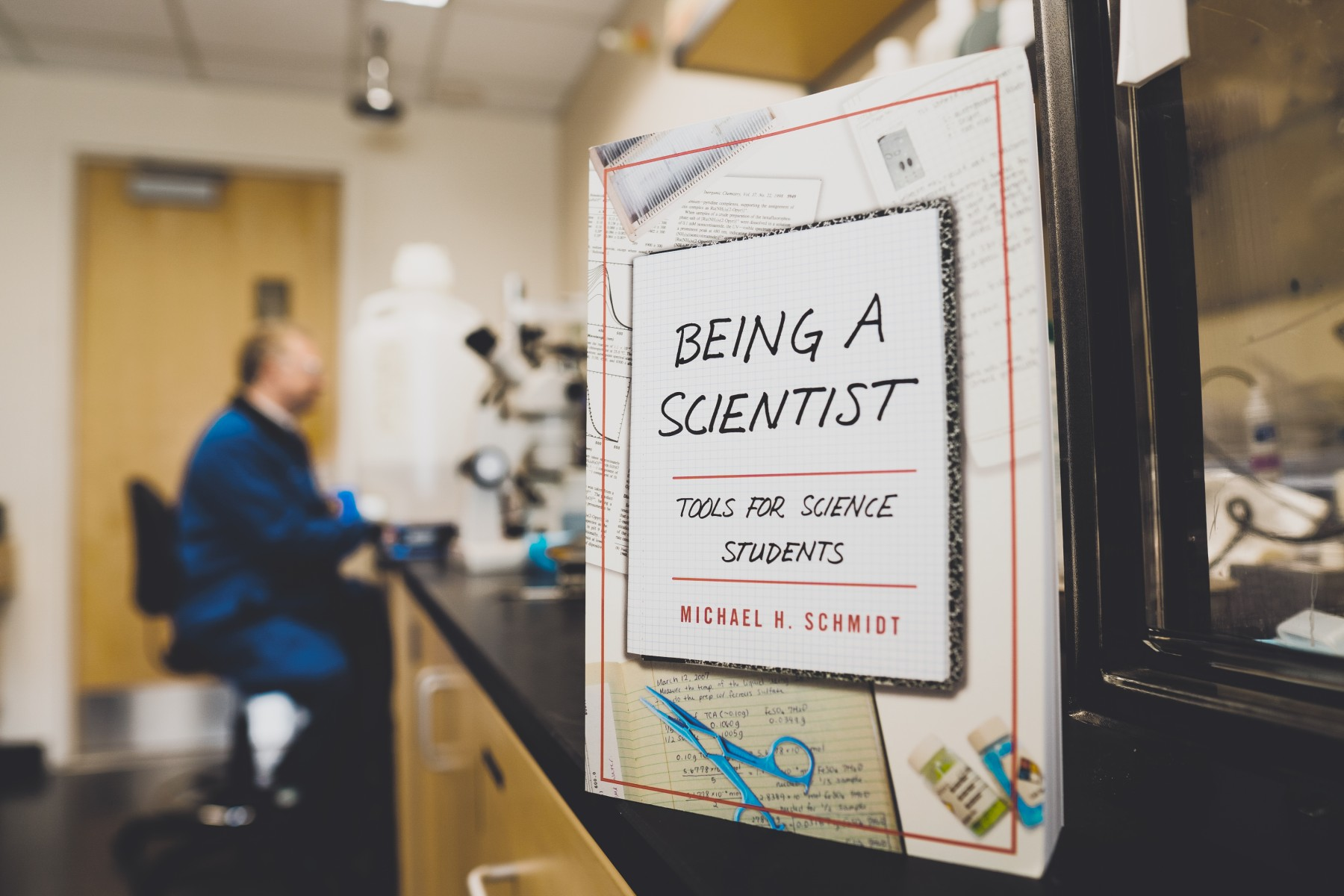 "Chemistry professor Michael Schmidt's book ""Being a Scientist: Tools for Science Students"" was published in November. Photo by Alan Brown"