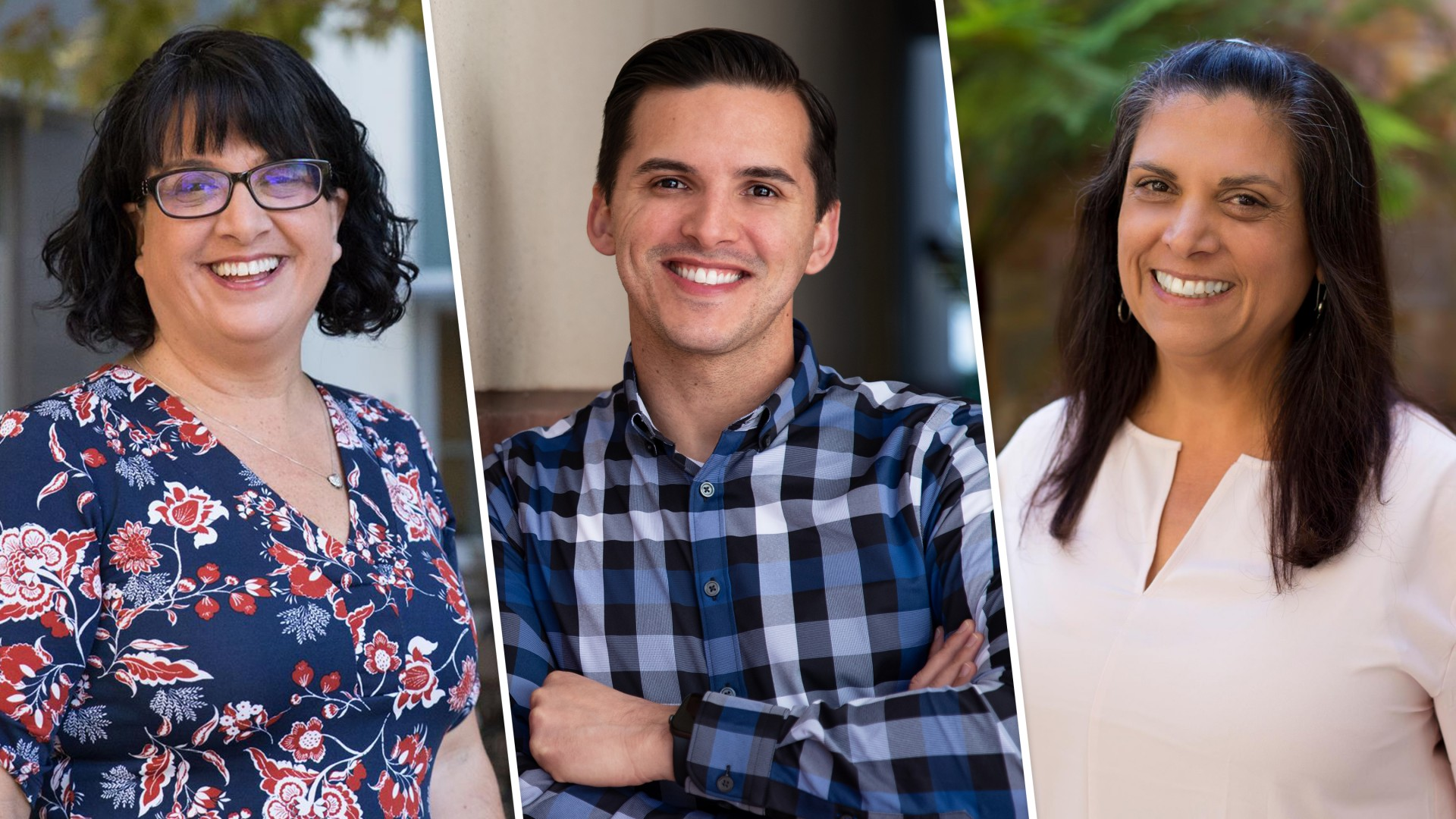 CSUSM professors (left to right) Konane Martinez, Richard Armenta and Laurette McGuire are serving on a San Diego County task force to address COVID-19 health disparities.