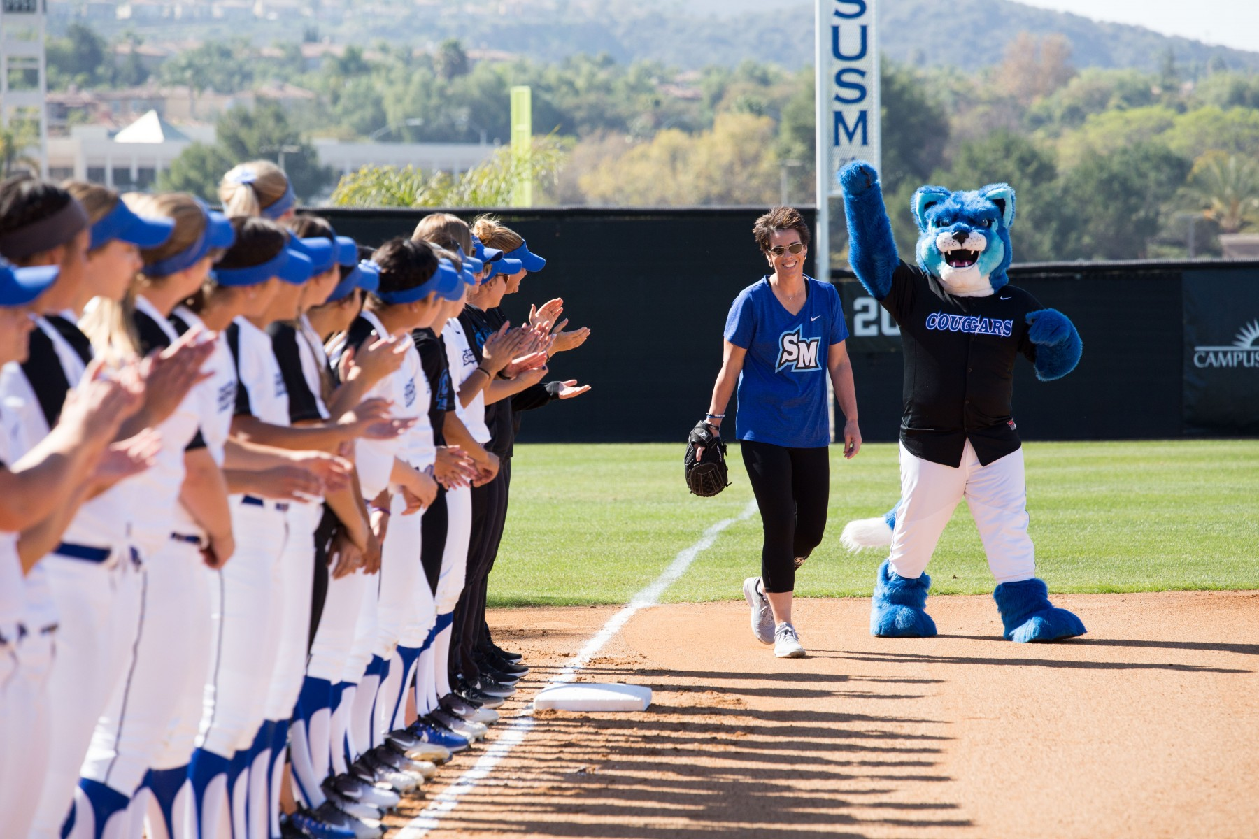 "Jen Milo never imagined that she would do anything but coach softball at CSUSM. Becoming an AD ""never crossed my mind,"" she said."