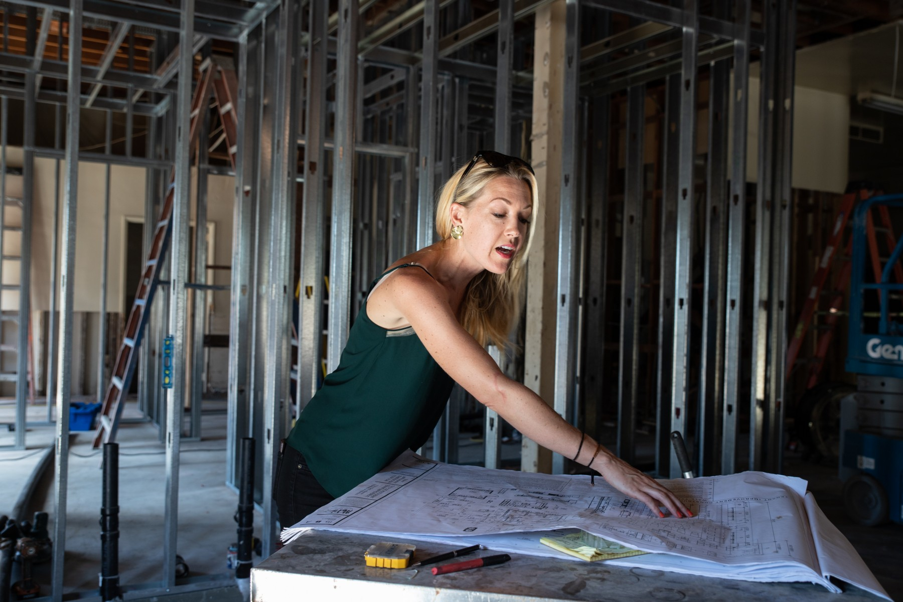 Jessica Waite, pictured when The Plot was under construction last fall, opened the restaurant in January. It's her third eatery in Oceanside. Photo by Christine Vaughan