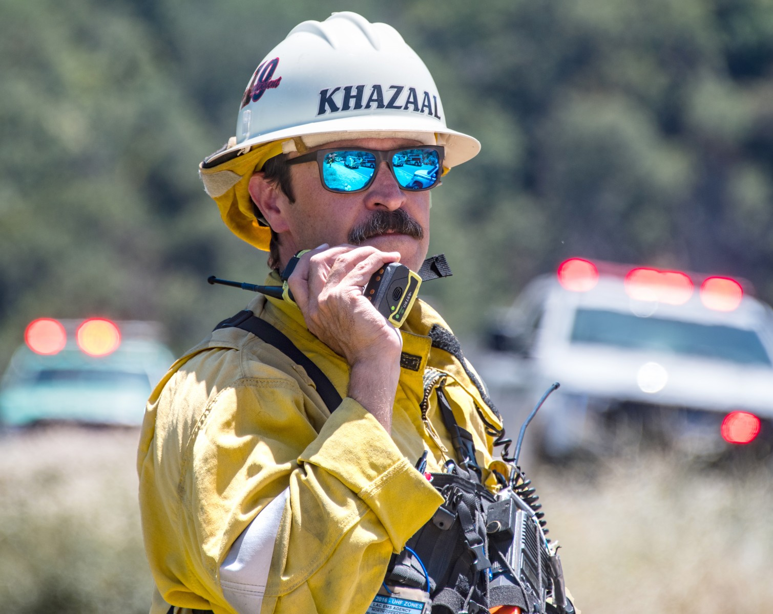 As a fire captain and camp superintendent, Mo Khazaal leads six wildland firefighting crews for the Los Angeles County Fire Department. Photo by 564FIRE.com