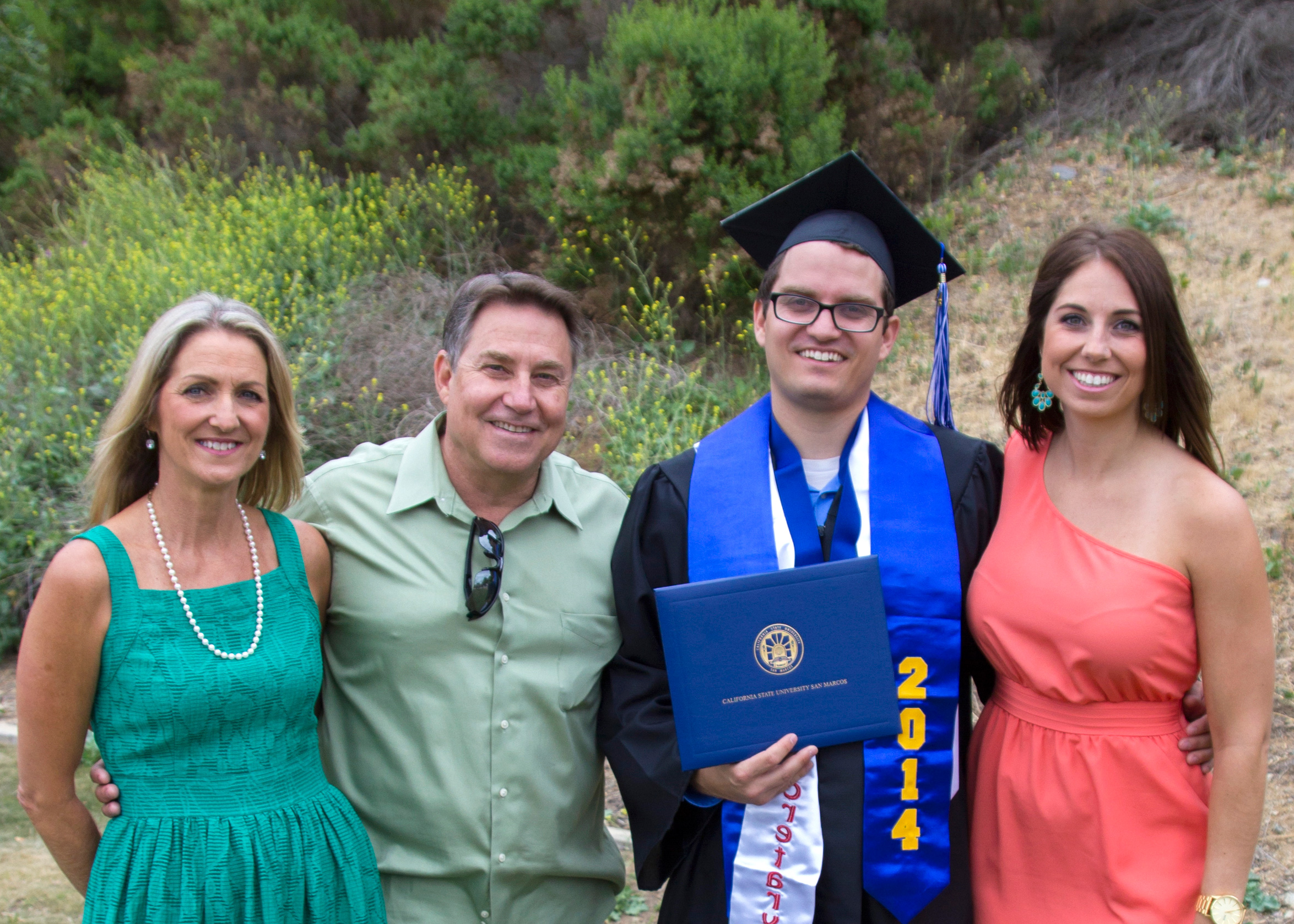 CSUSM Alumni Family, The Murphy's, all graduated from Cal State San Marcos