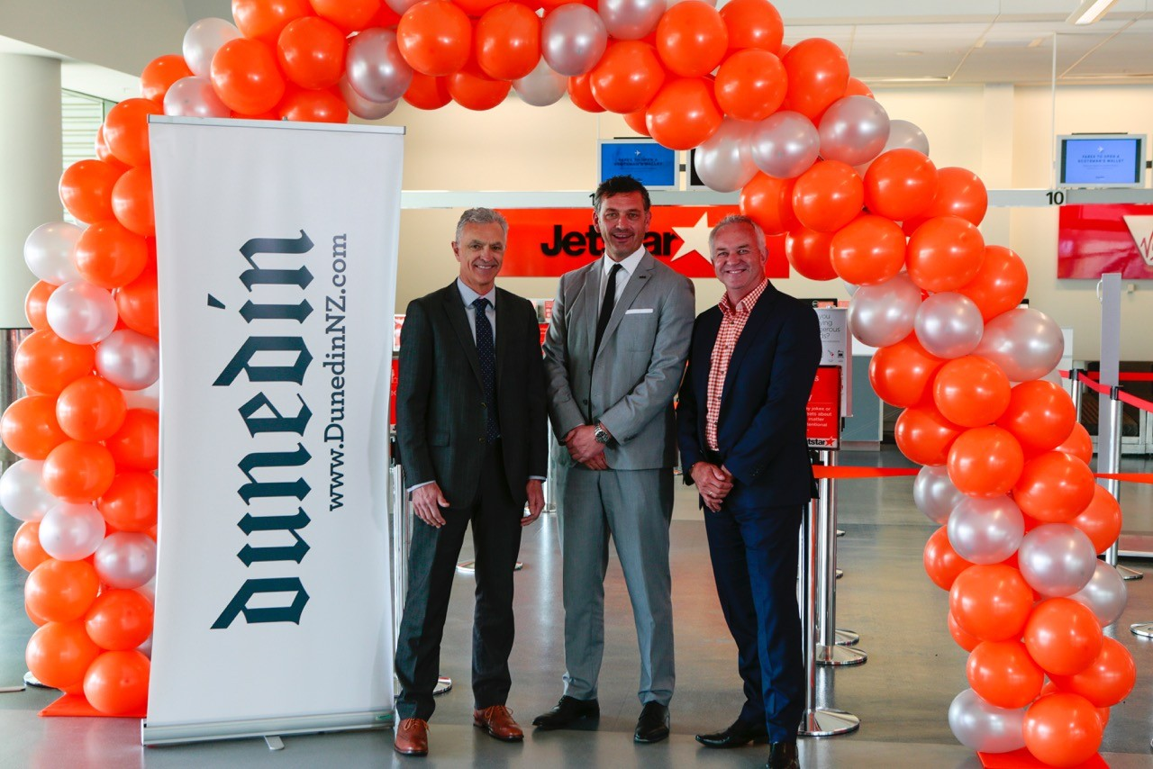 Jetstar Dunedin - Wellington launch