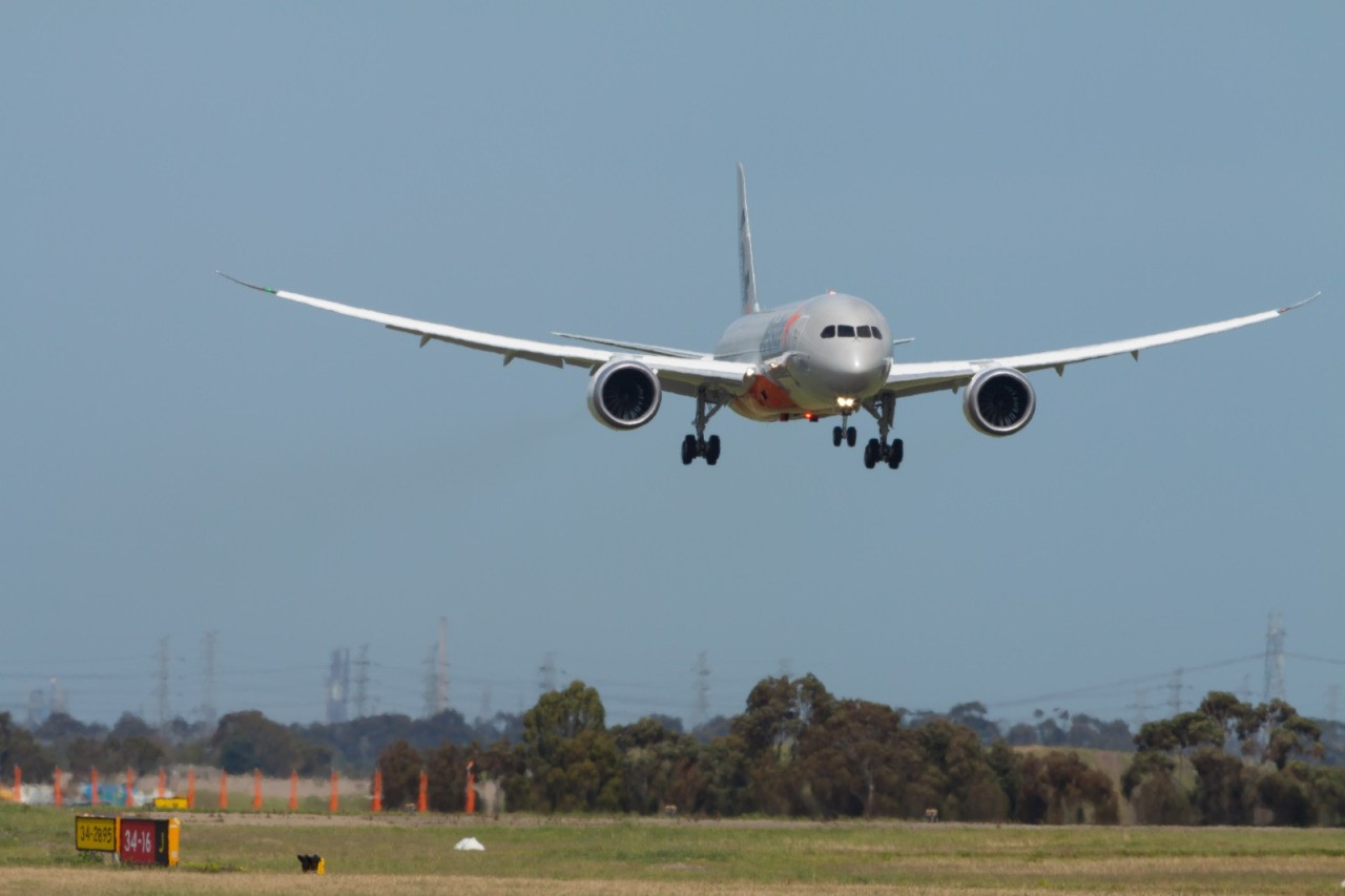 Our 787 arrives in Melbourne