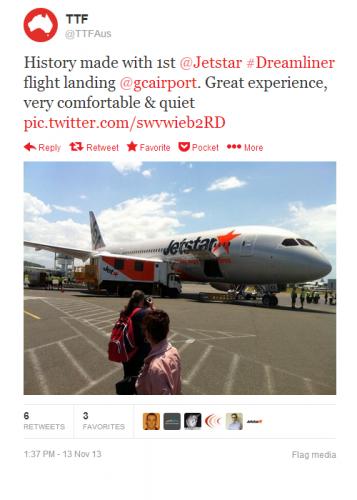 787 Inaugural Flight Twitter Roundup