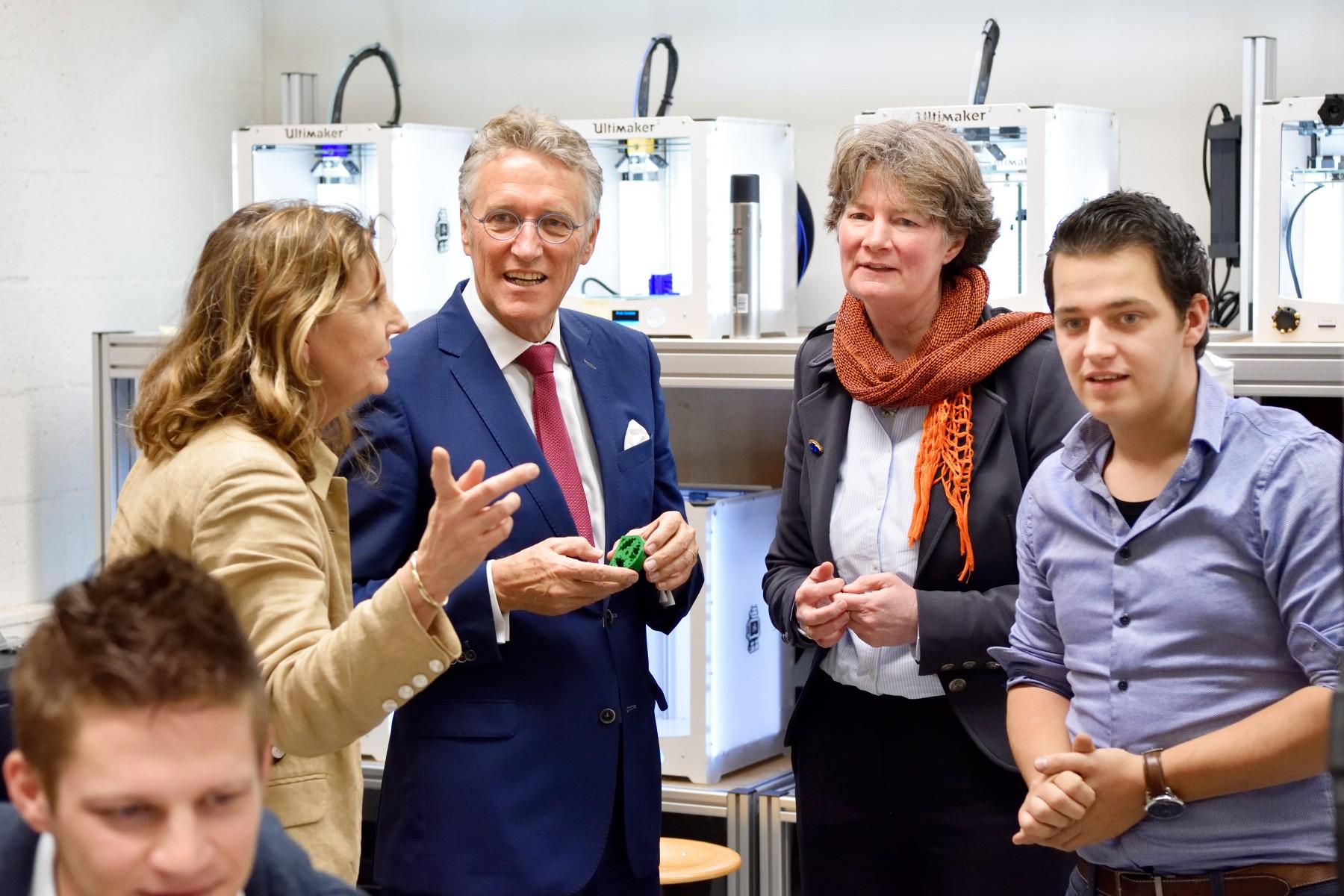 Burgemeester Jorritsma op werkbezoek bij Fontys