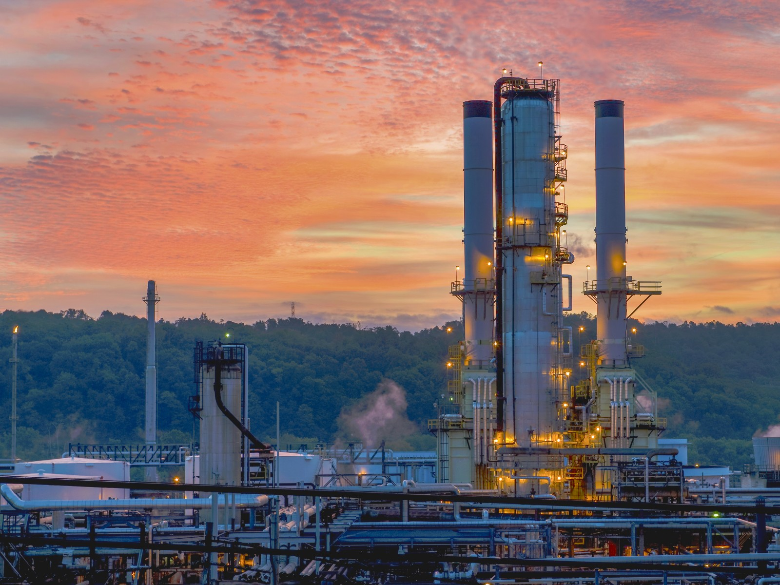 Catlettsburg Refinery at dusk